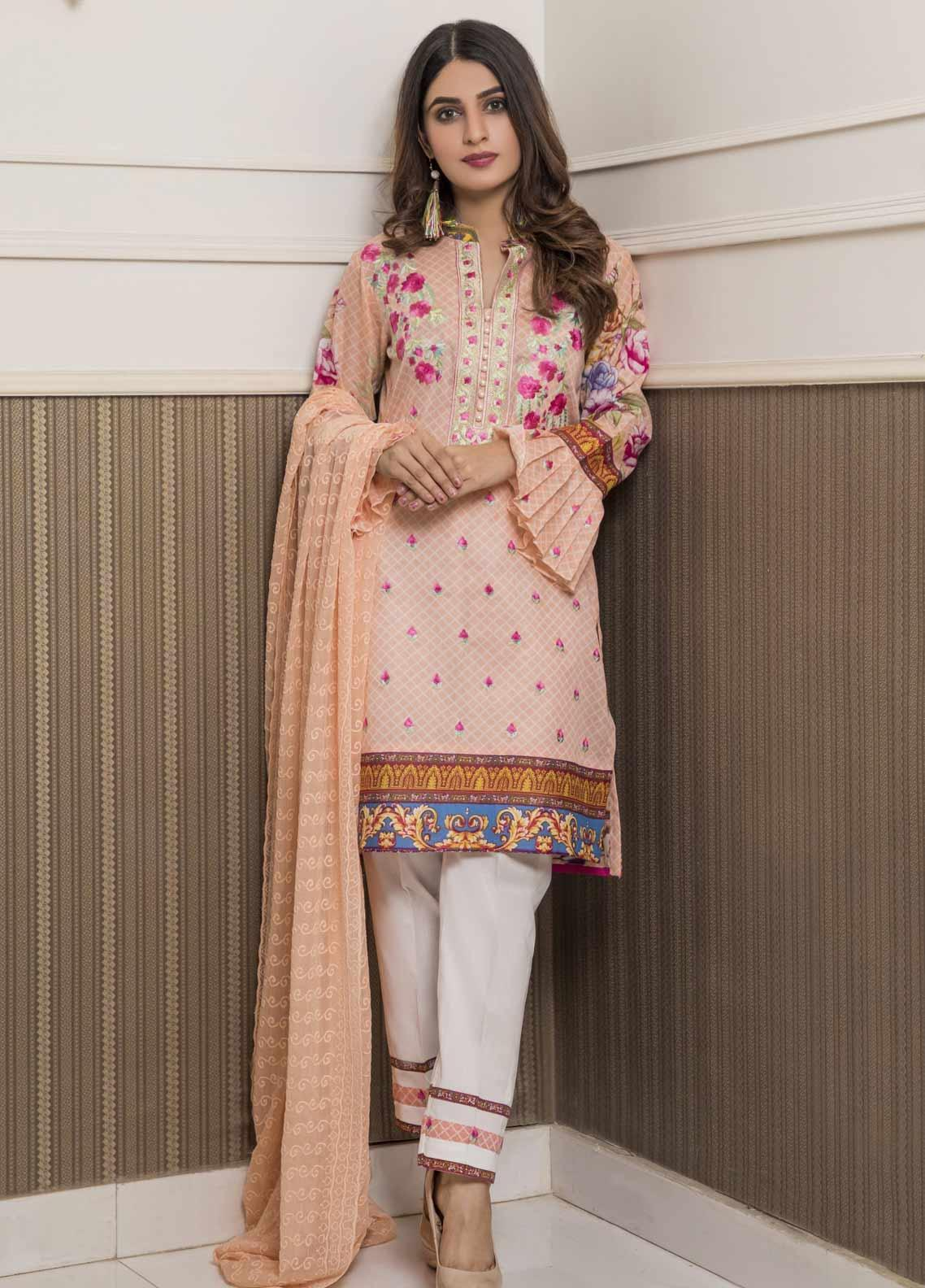 Amani by ZS Textile Embroidered Chikankari Unstitched 3 Piece Suit AZS19C 06A - Mid Summer Collection