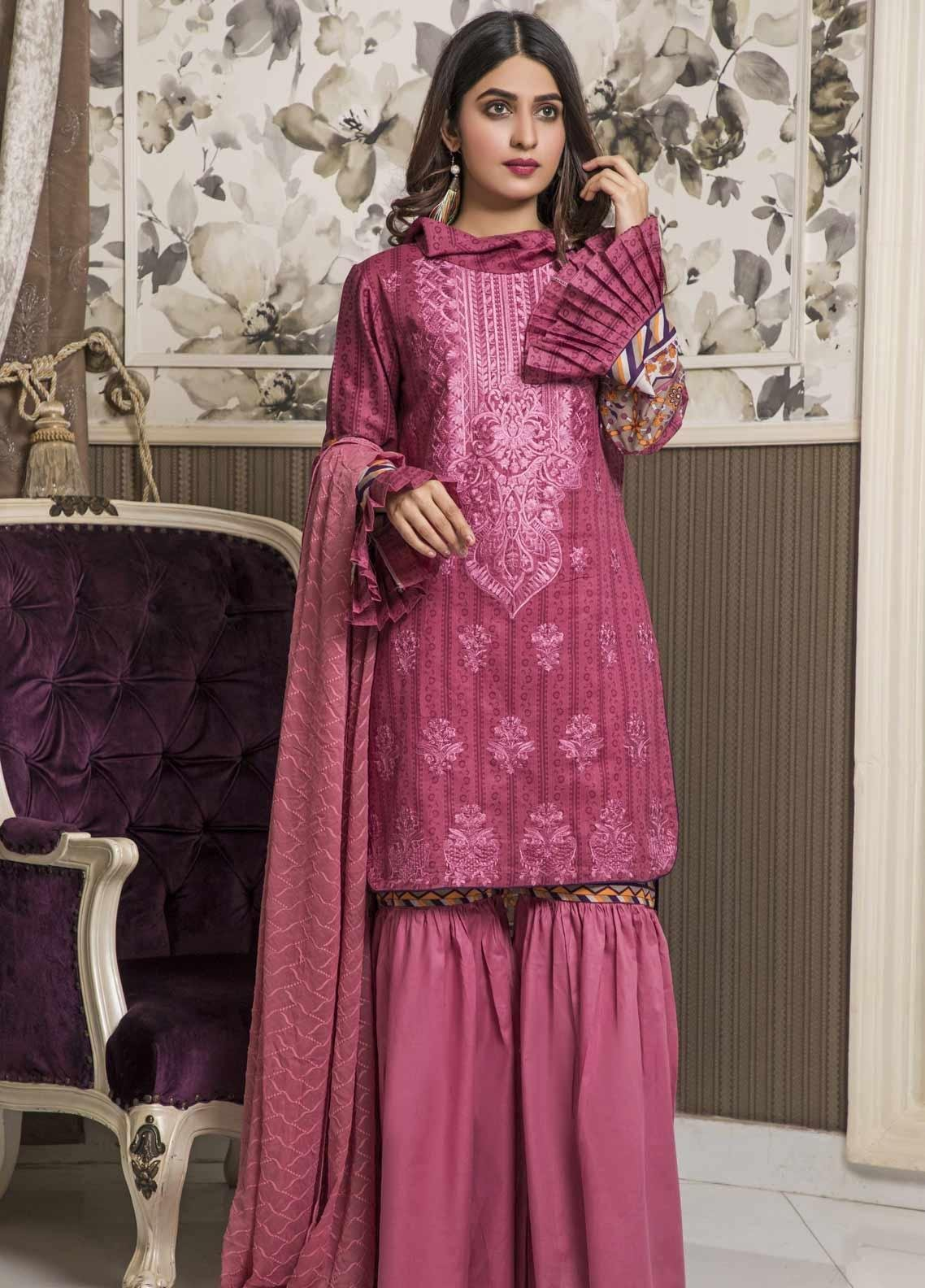 Amani by ZS Textile Embroidered Chikankari Unstitched 3 Piece Suit AZS19C 07A - Mid Summer Collection