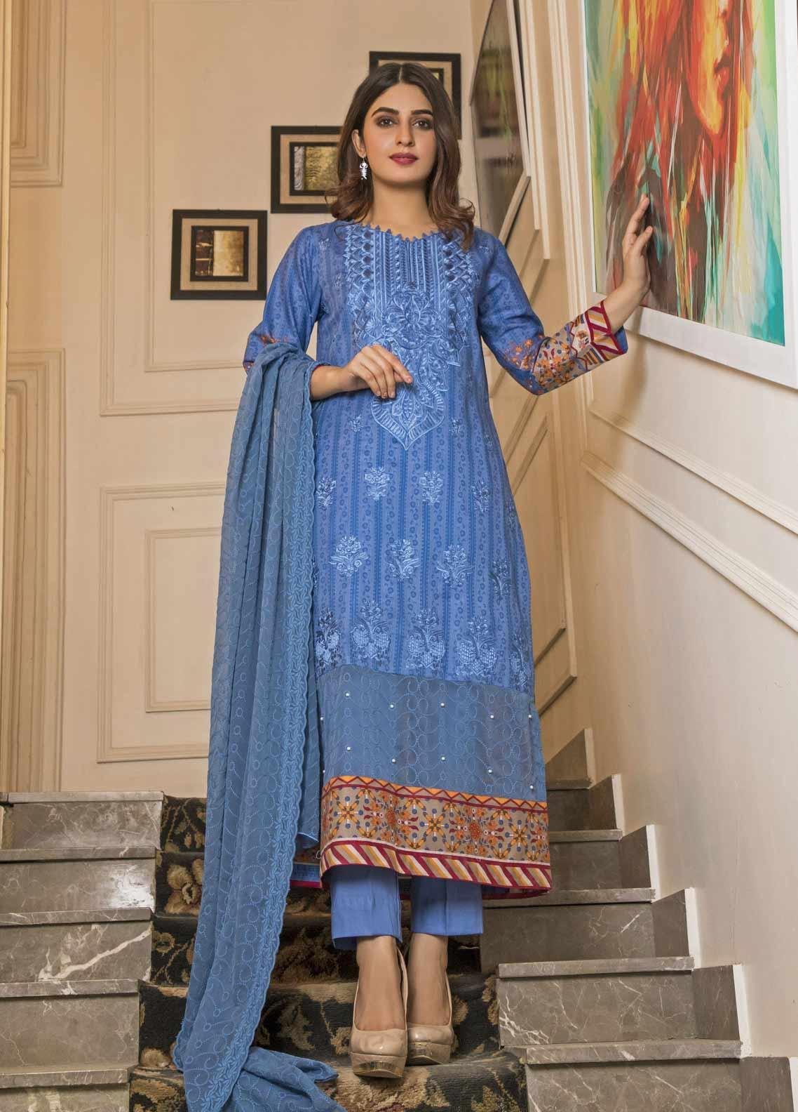 Amani by ZS Textile Embroidered Chikankari Unstitched 3 Piece Suit AZS19C 07B - Mid Summer Collection