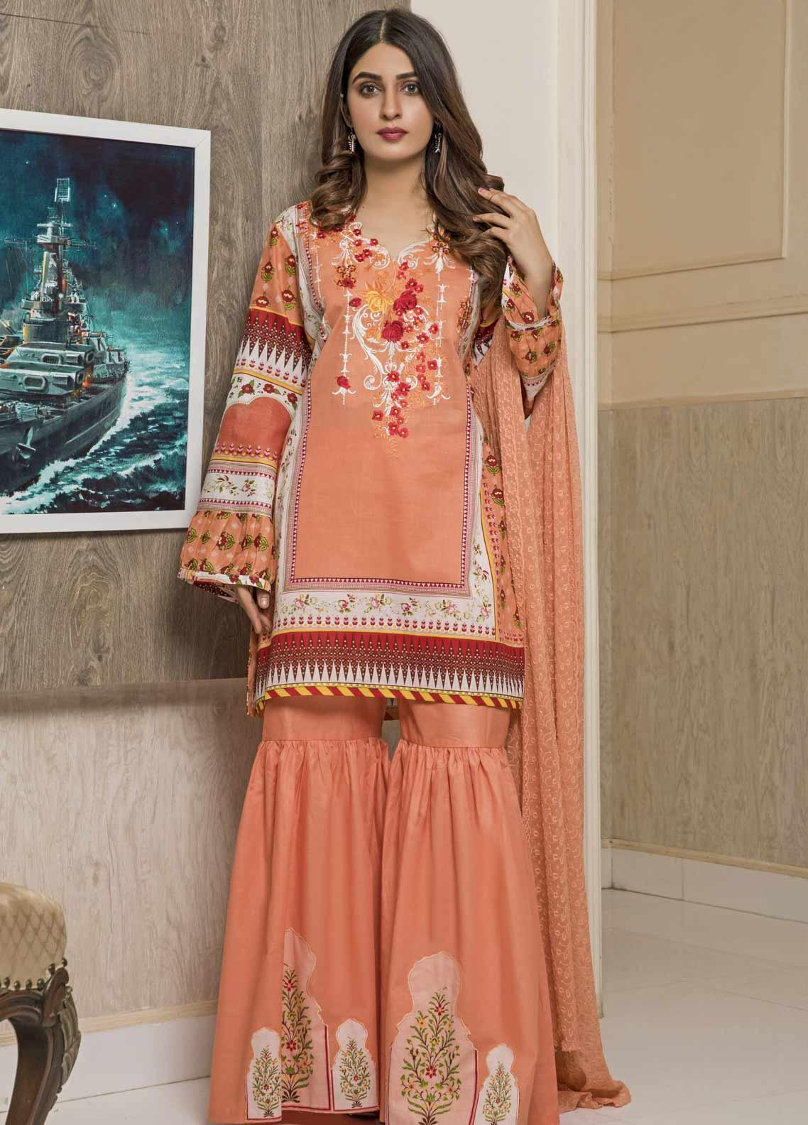 f39c7dc628 Amani by ZS Textile Embroidered Chikankari Unstitched 3 Piece Suit AZS19C  08A - Mid Summer Collection