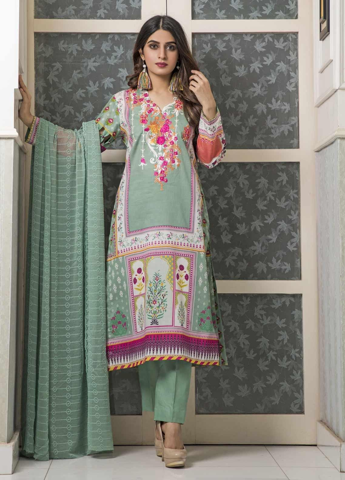 59f17714cd Amani by ZS Textile Embroidered Chikankari Unstitched 3 Piece Suit AZS19C  08B - Mid Summer Collection