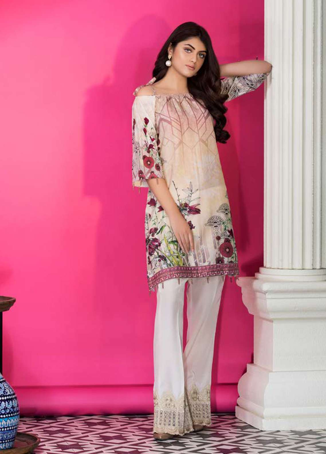 Amal By Motifz Printed Lawn Unstitched Kurties AMT18L 2108 - Mid Summer Collection