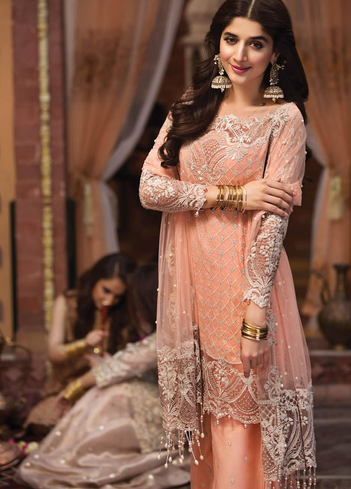 Anaya by Kiran Chaudhry Embroidered Cotton Net Unstitched 3 Piece Suit AKC19F 02 SHEHRAZADE - Festive Collection