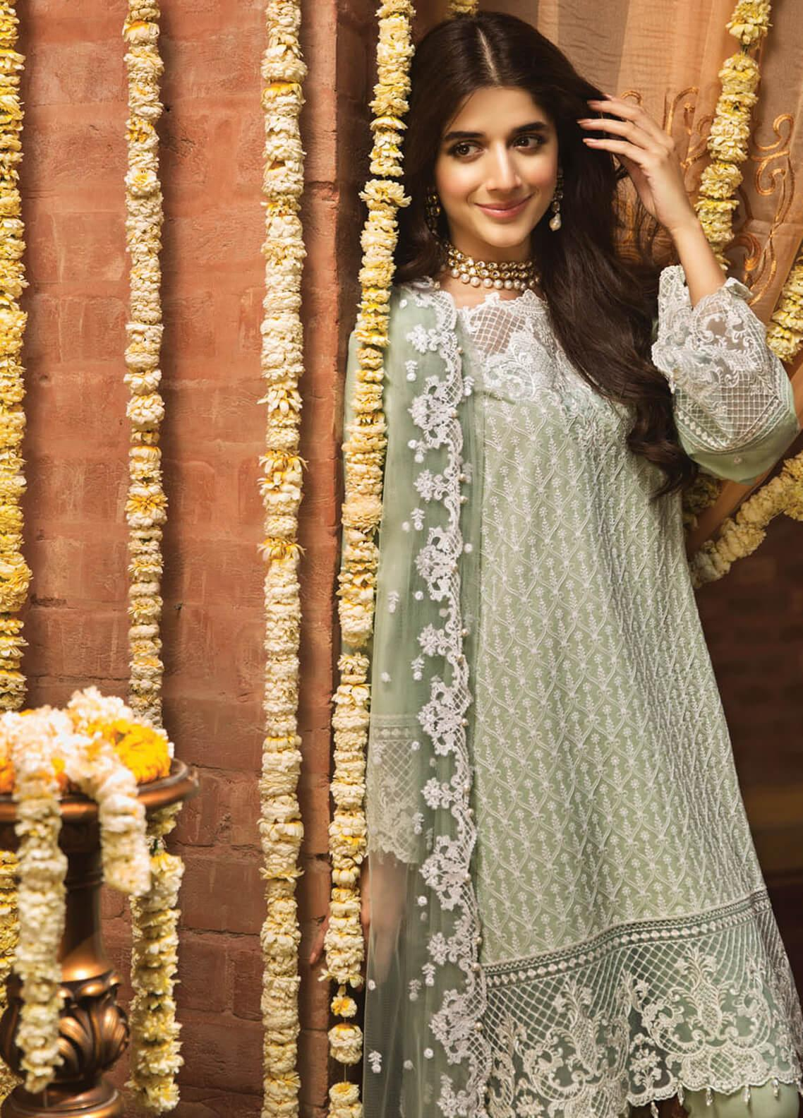 23ce7637ee Anaya by Kiran Chaudhry Embroidered Lawn Unstitched 3 Piece Suit AKC19F 03  ZAHARA - Festive Collection