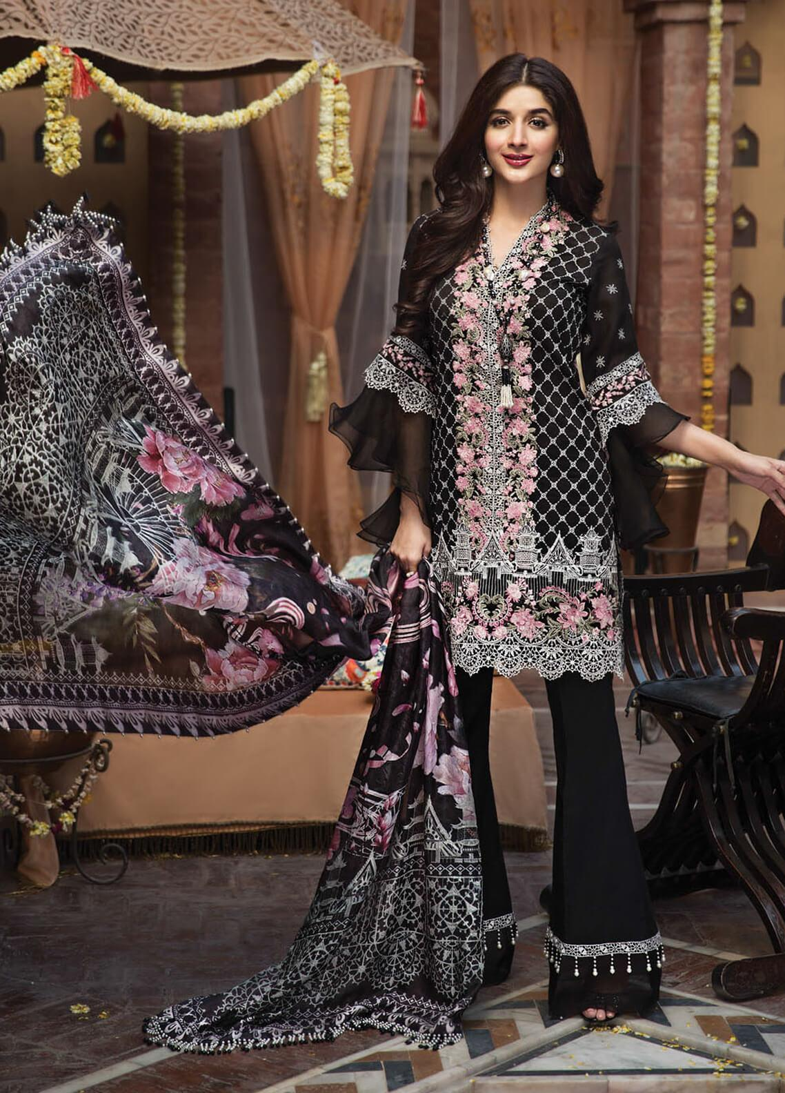 7a12d1deef Anaya by Kiran Chaudhry Embroidered Cotton Net Unstitched 3 Piece Suit  AKC19F 09 LAILA - Festive Collection
