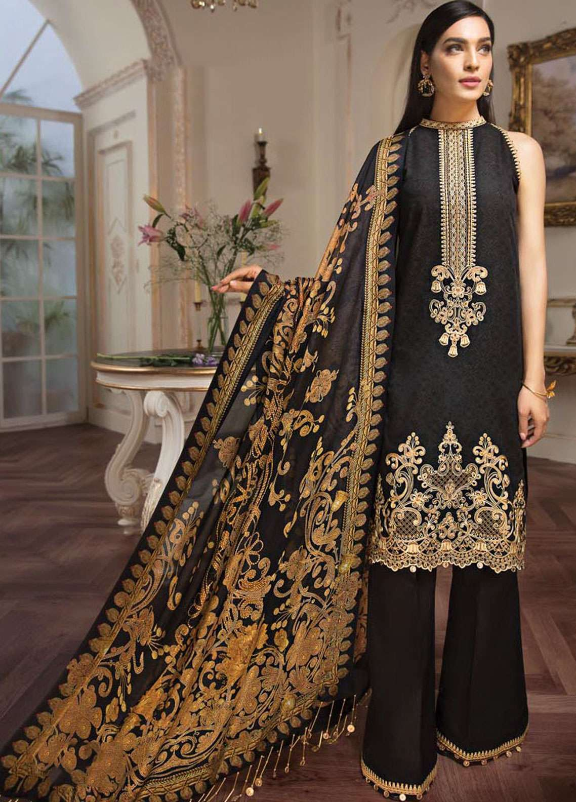 Anaya by Kiran Chaudhry Embroidered Lawn Unstitched 3 Piece Suit AKC19L 06 ETRENE - Spring / Summer Collection