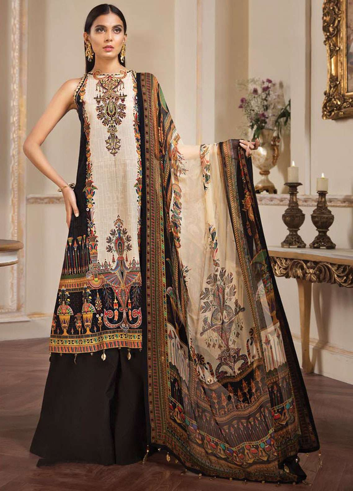 5dd10524c4 Anaya by Kiran Chaudhry Embroidered Lawn Unstitched 3 Piece Suit AKC19L 12  AARYA - Spring / Summer Collection