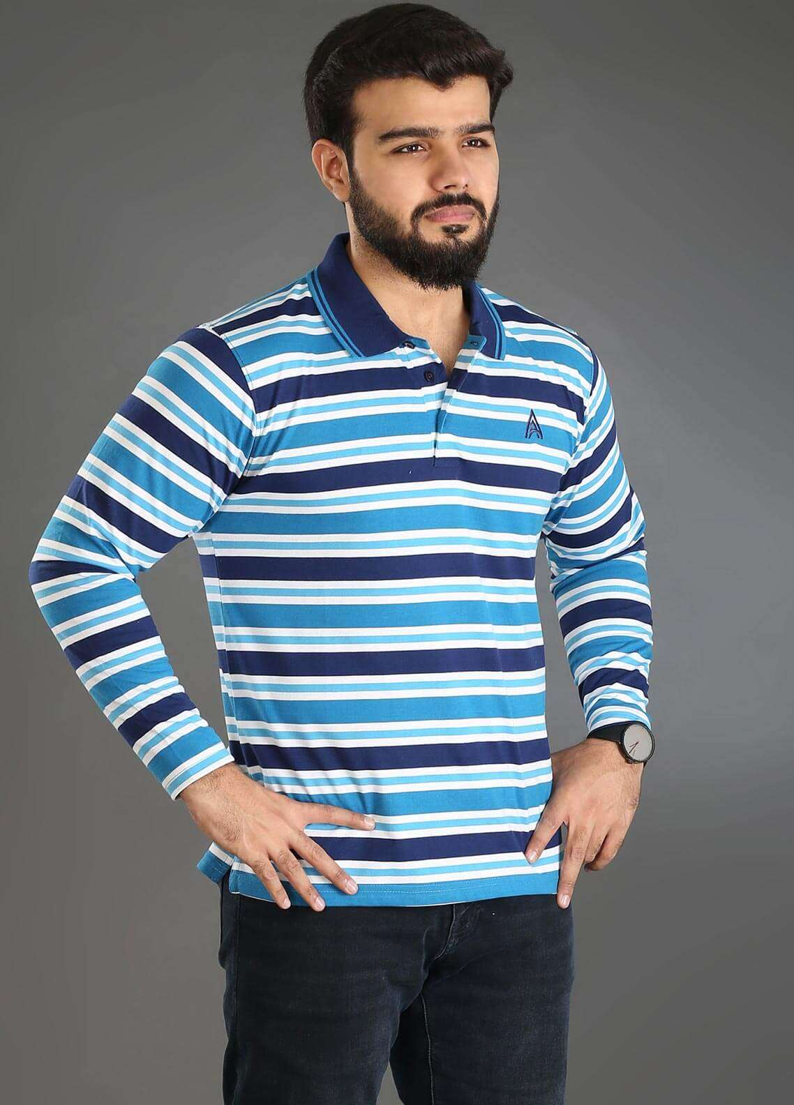 Anchor Jersey Polo T-Shirts for Men - Multi A-218