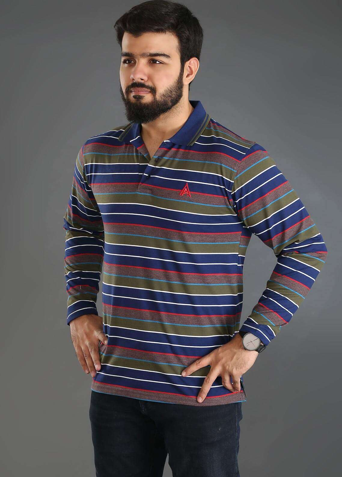Anchor Jersey Polo Men T-Shirts - Multi A-219