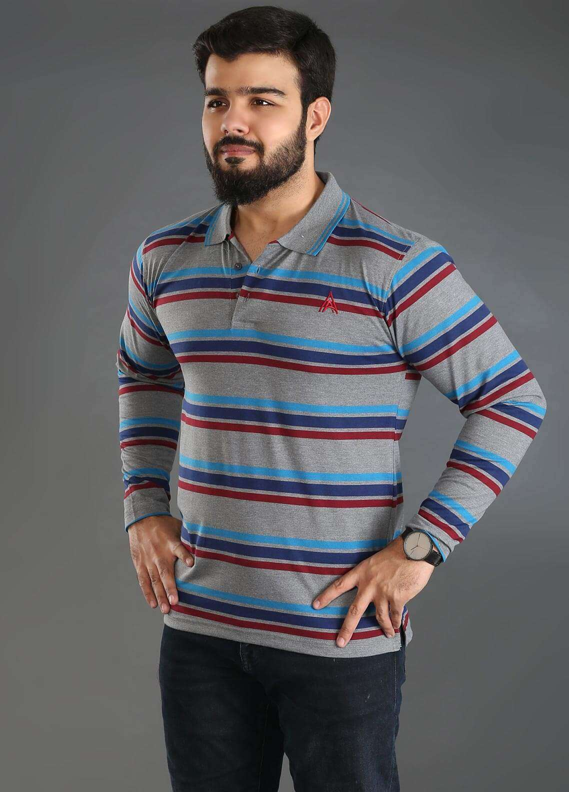 Anchor Jersey Polo T-Shirts for Men - Multi A-223