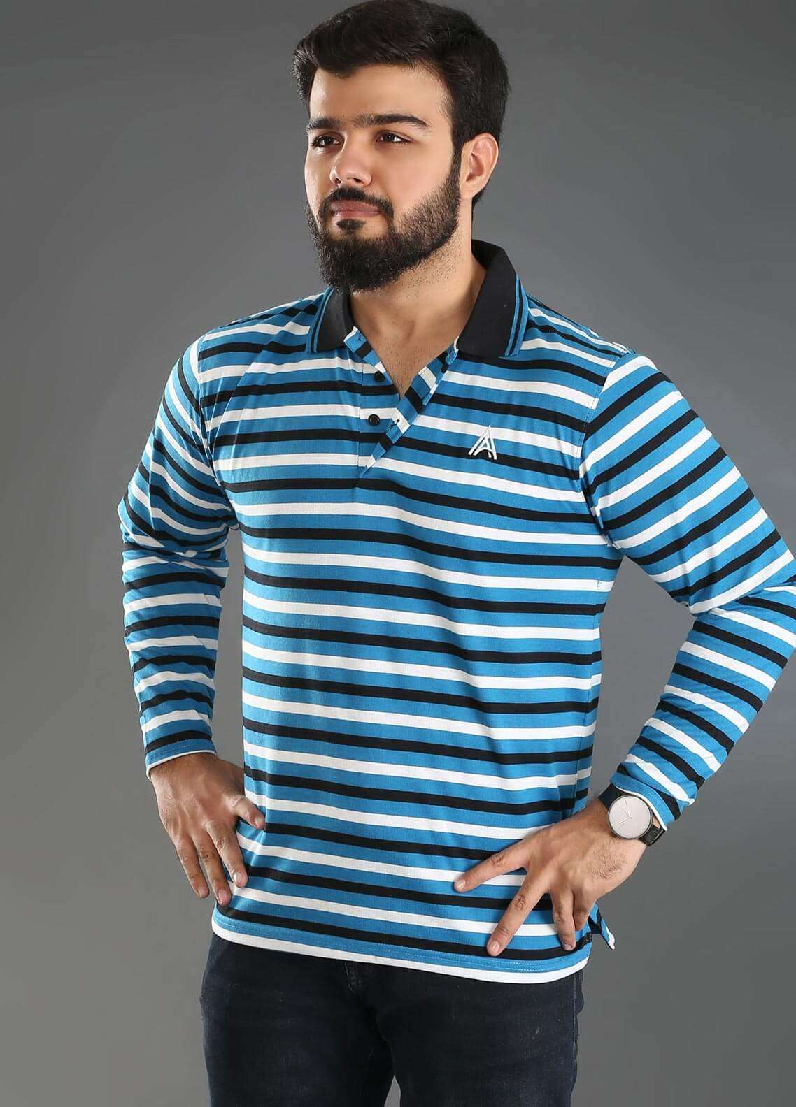 Anchor Jersey Polo T-Shirts for Men - Multi A-228