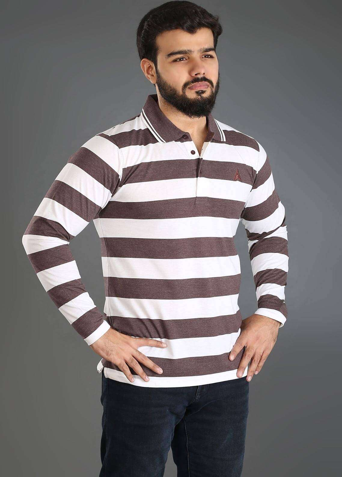 Anchor Jersey Polo Men T-Shirts - Multi A-230
