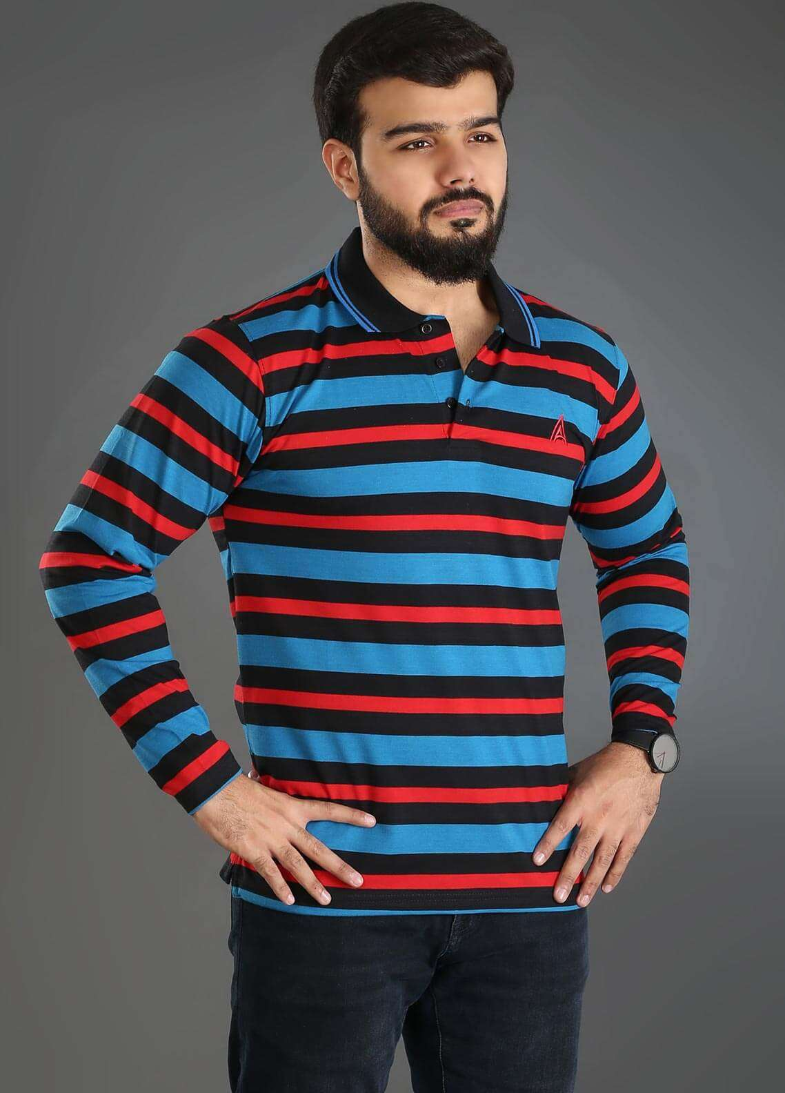 Anchor Jersey Polo T-Shirts for Men - Multi A-231