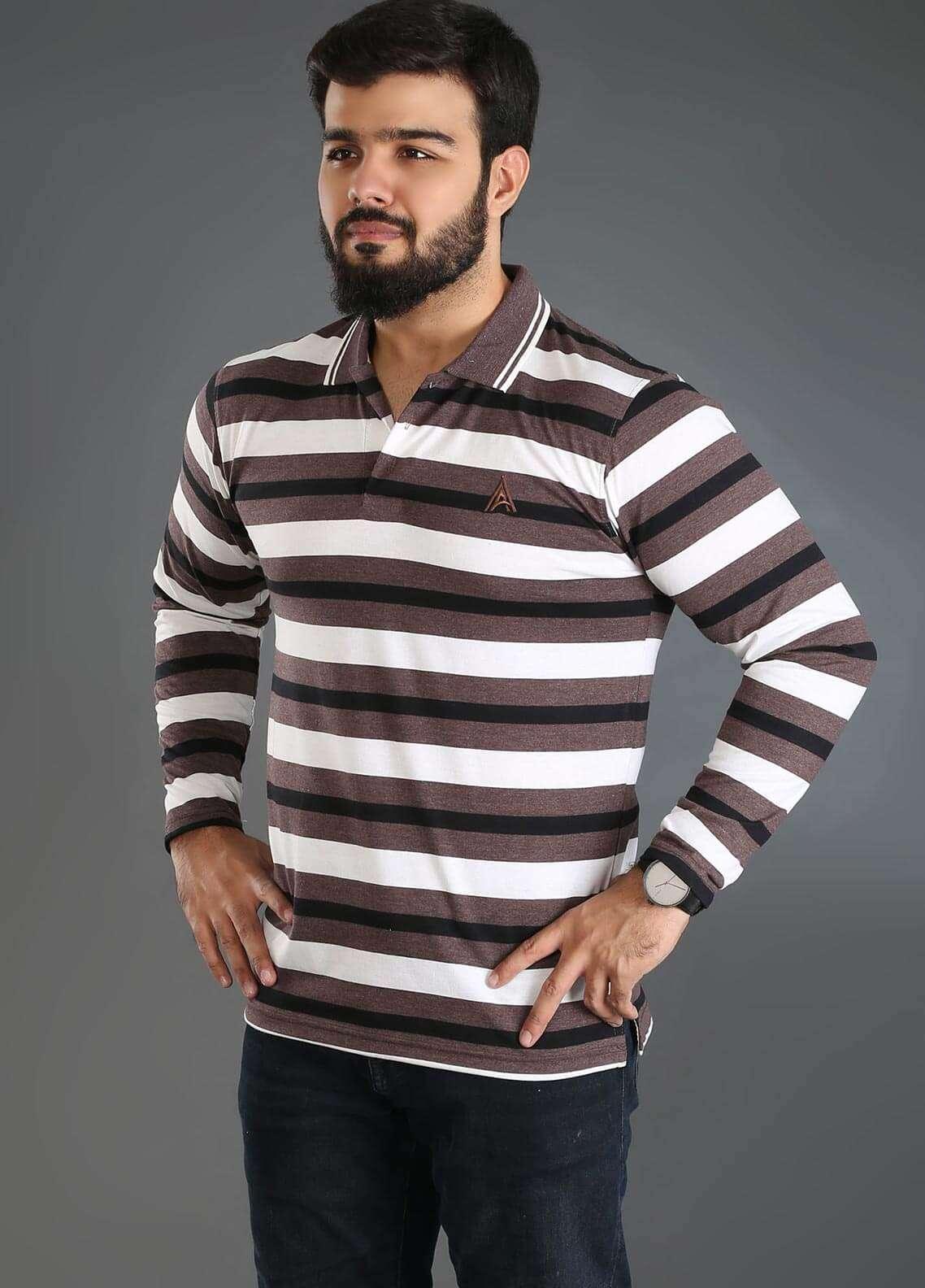 Anchor Jersey Polo Men T-Shirts - Multi A-233