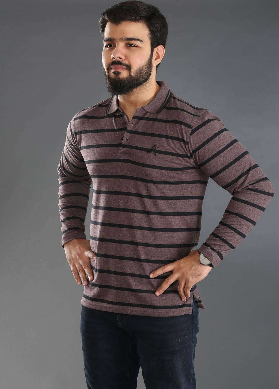 Anchor Jersey Polo T-Shirts for Men - Multi A-234