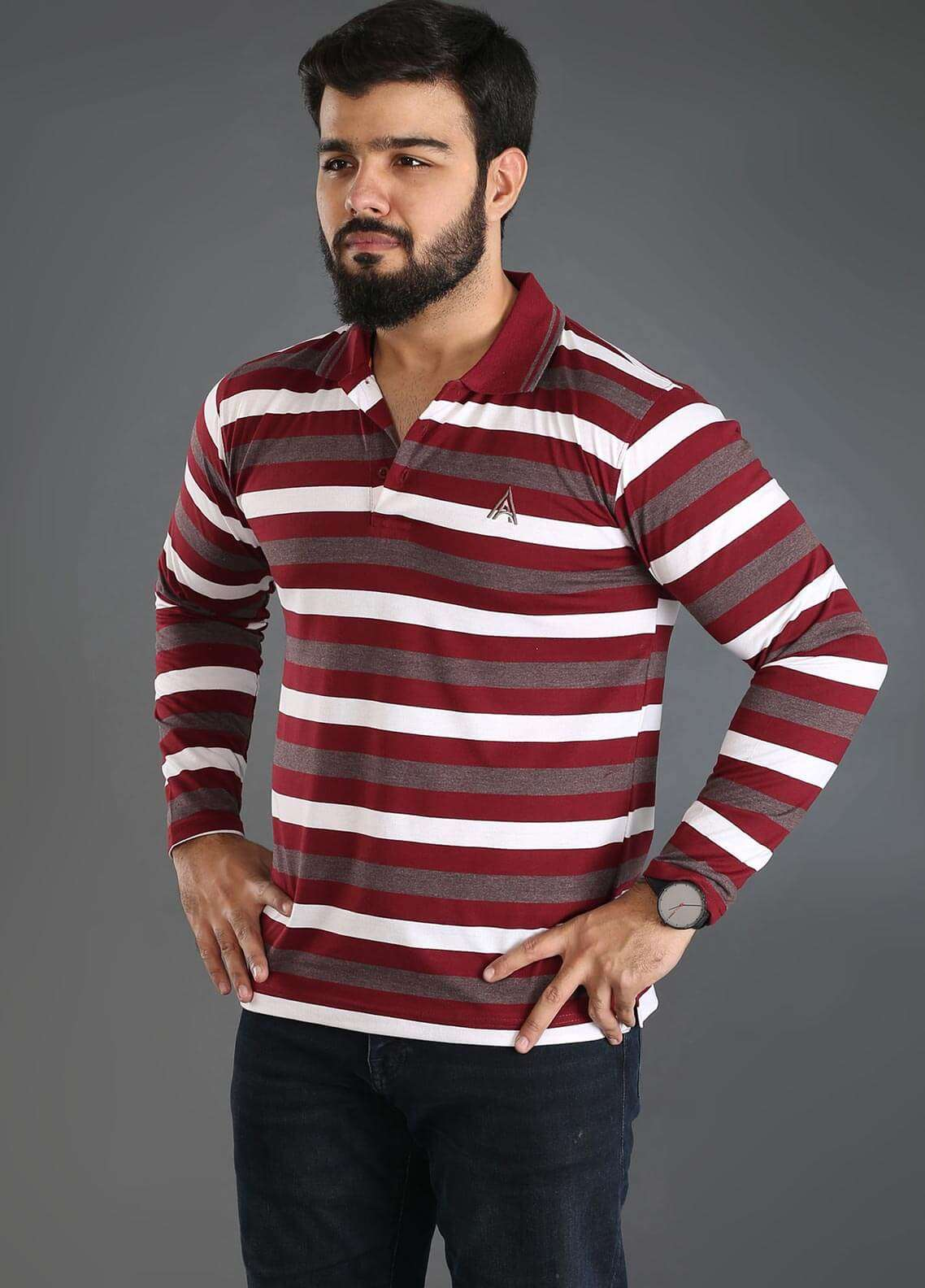 Anchor Jersey Polo Men T-Shirts - Multi A-257