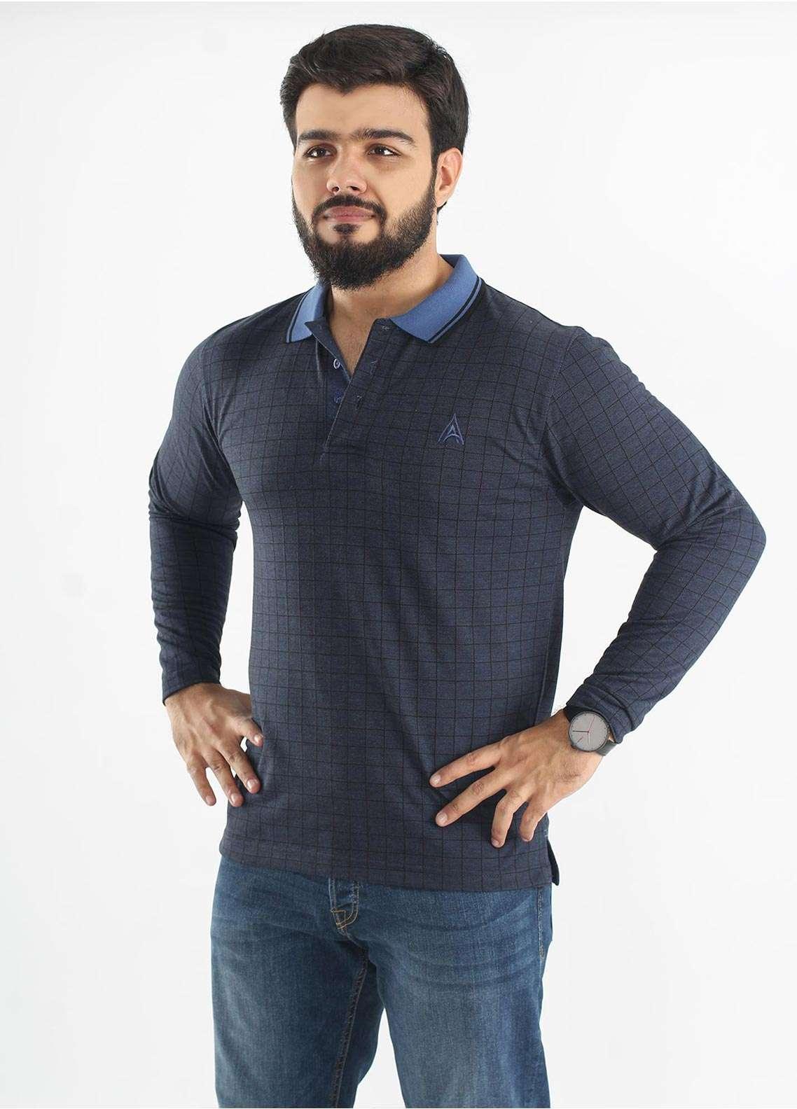 Anchor Jersey Polo Men T-Shirts - Blue A-192