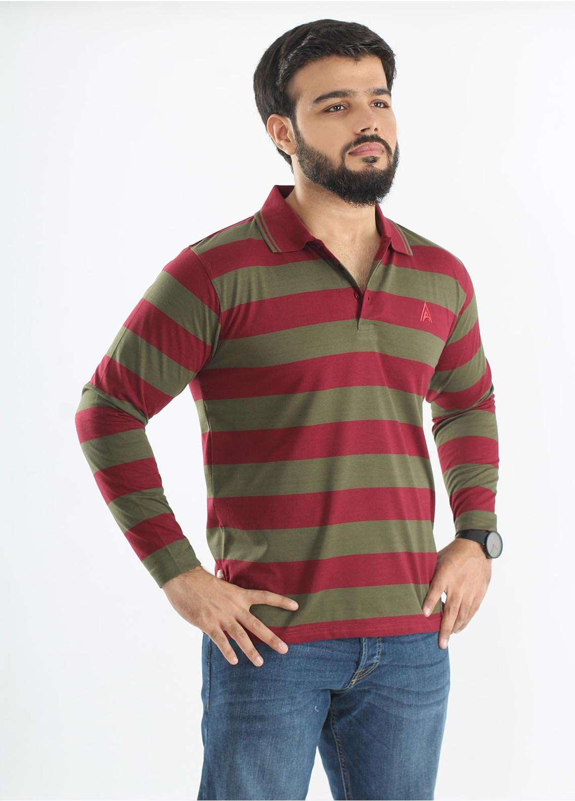 Anchor Jersey Polo T-Shirts for Men - Multi A-210
