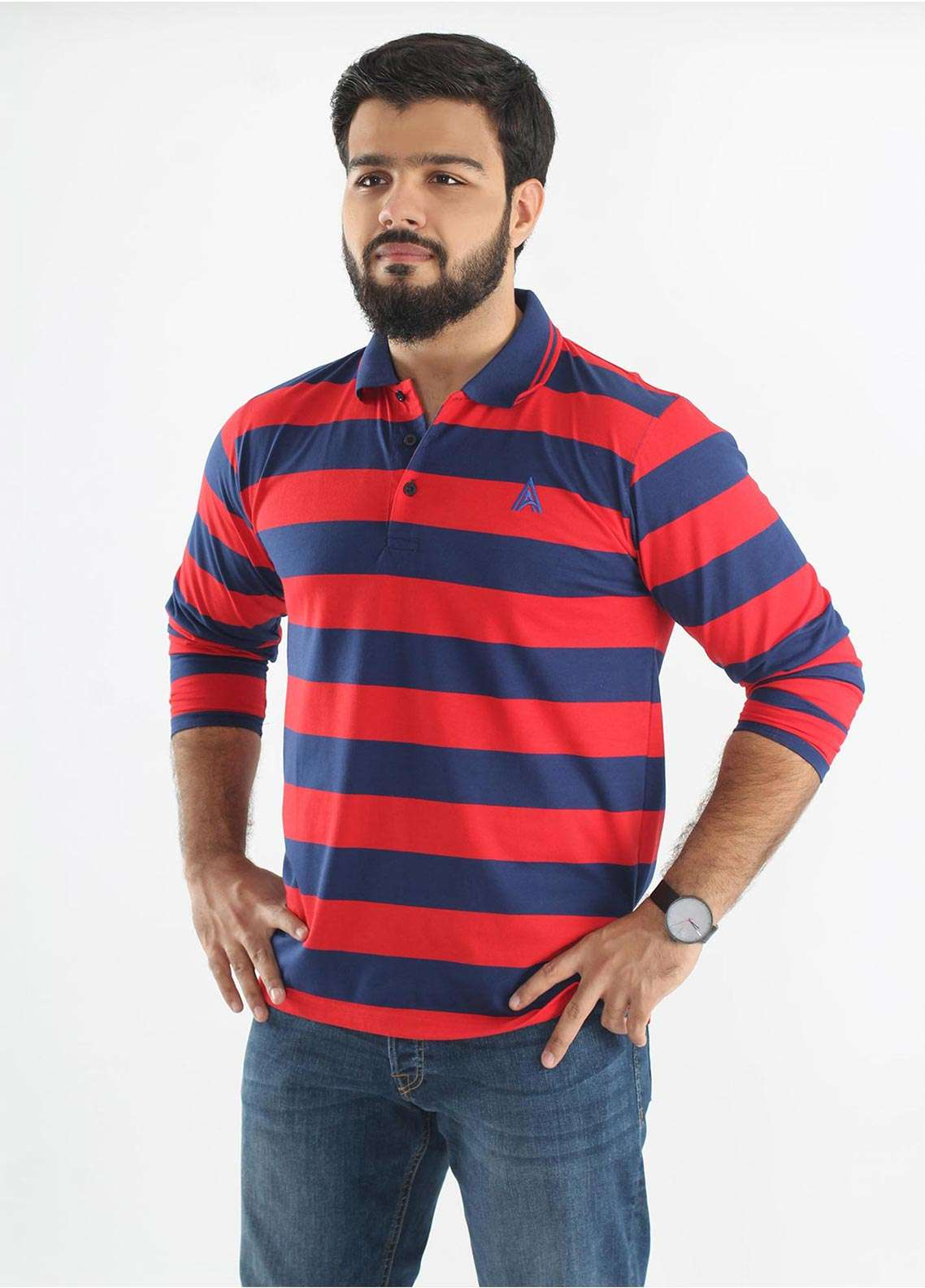 Anchor Jersey Polo Men T-Shirts - Multi A-214