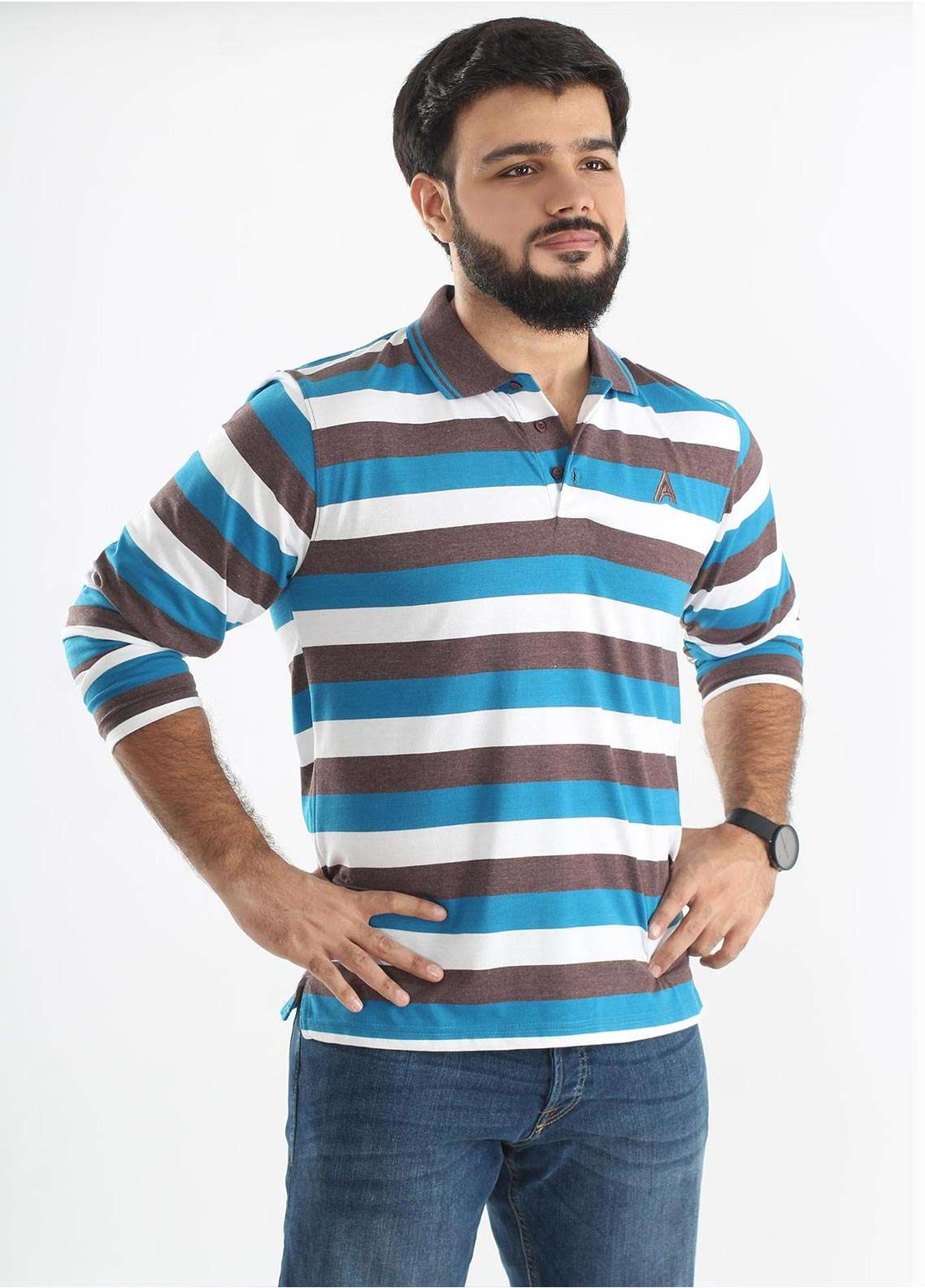 Anchor Jersey Polo T-Shirts for Men - Multi A-216