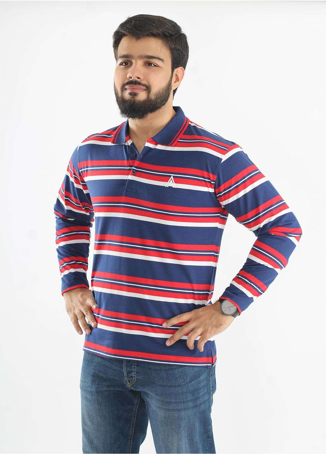 Anchor Jersey Polo T-Shirts for Men - Multi A-220