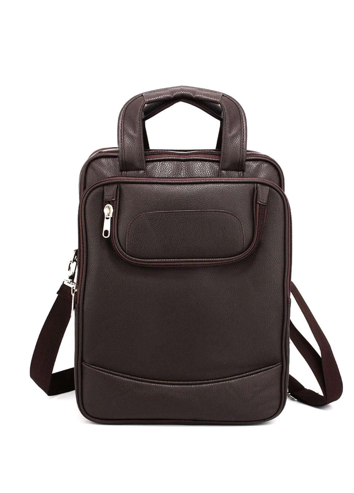 Anna Grace London Faux Leather BackPack Bags for Unisex - Coffee