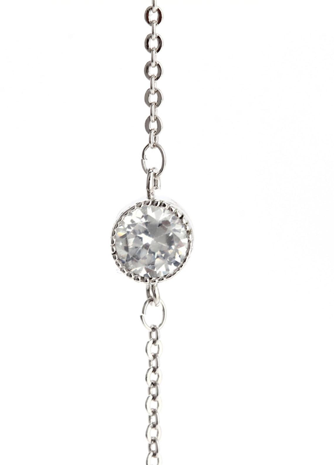 Anna Grace London Silver Crystal Sparkling Bracelet AGB0063 - Ladies Jewellery