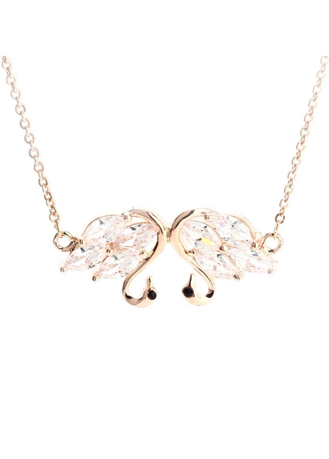 Anna Grace London Gold Crystal Sparkling Swan Bracelet AGB0065 - Ladies Jewellery