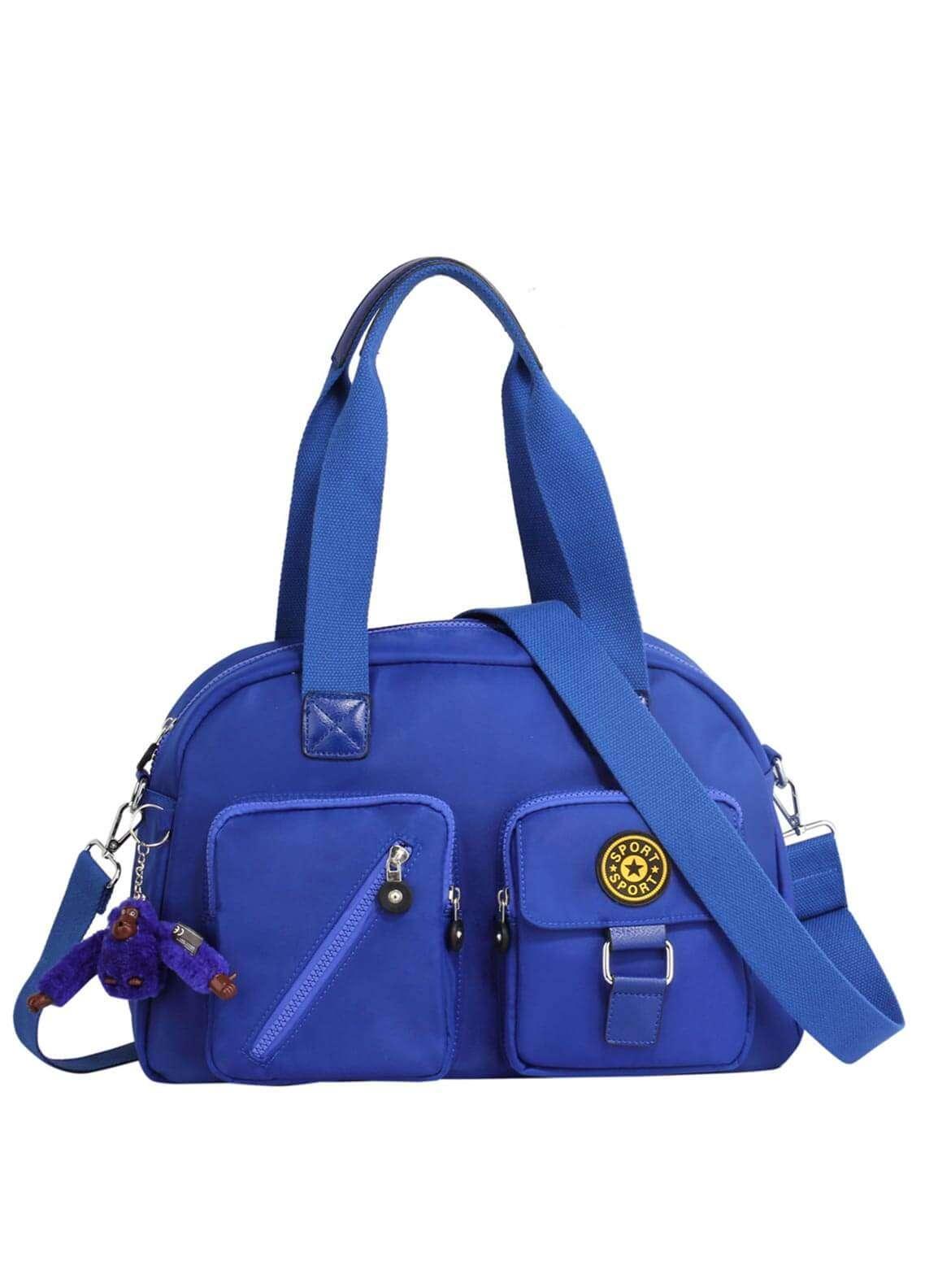 Anna Grace London Faux Leather Shoulder Bags for Woman - Blue