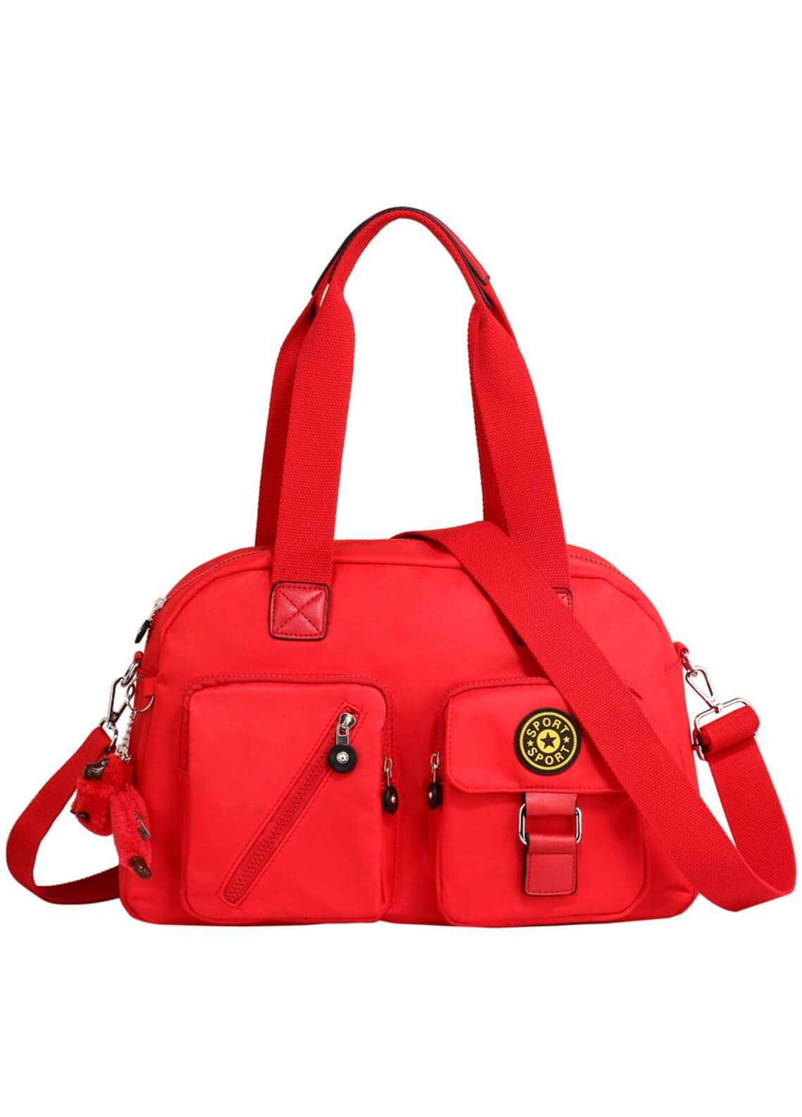 Anna Grace London Faux Leather Shoulder Bags for Woman - Red