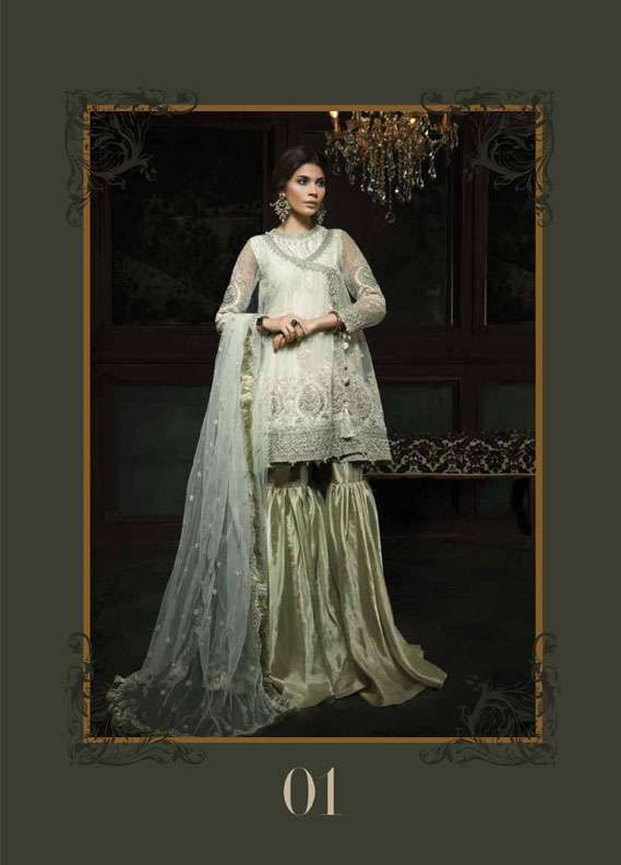 Aayra Embroidered Chiffon Unstitched 3 Piece Suit AR18C 01