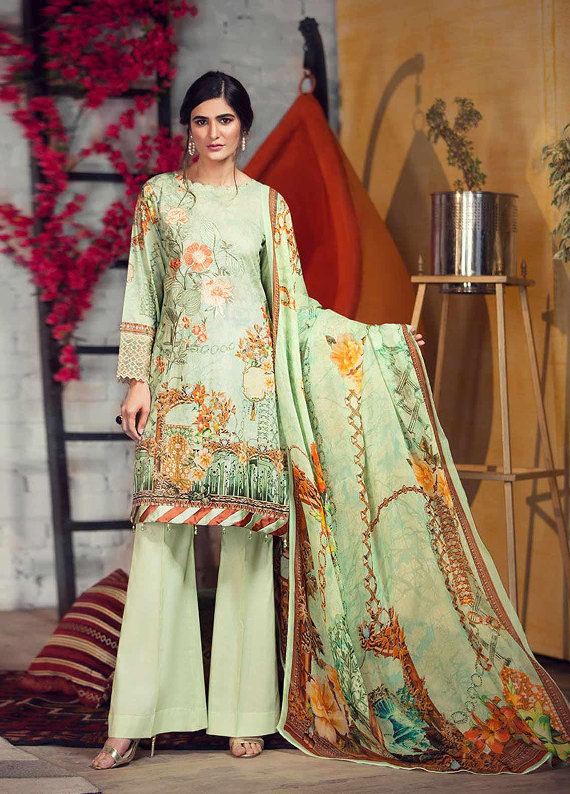 Arena by Mohagni Embroidered Lawn Unstitched 3 Piece Suit AMO19P 02 - Mid Summer Collection