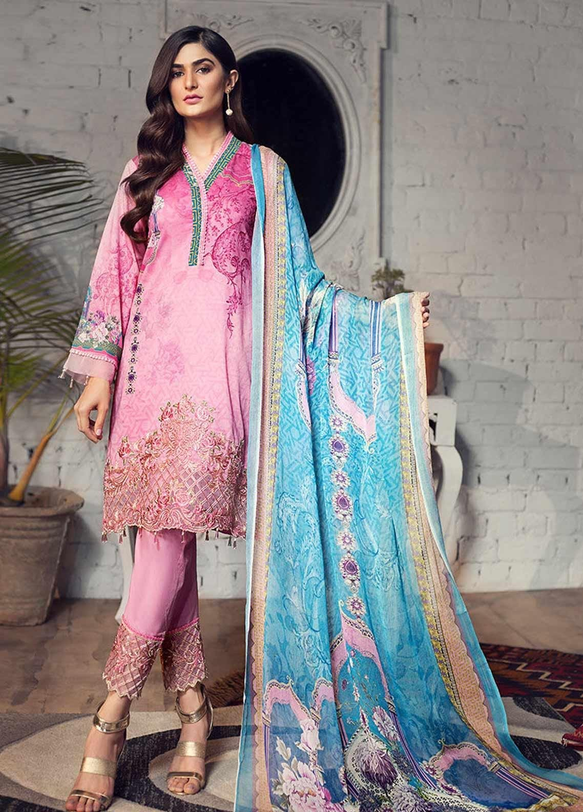 Arena by Mohagni Embroidered Lawn Unstitched 3 Piece Suit AMO19P 04 - Mid Summer Collection