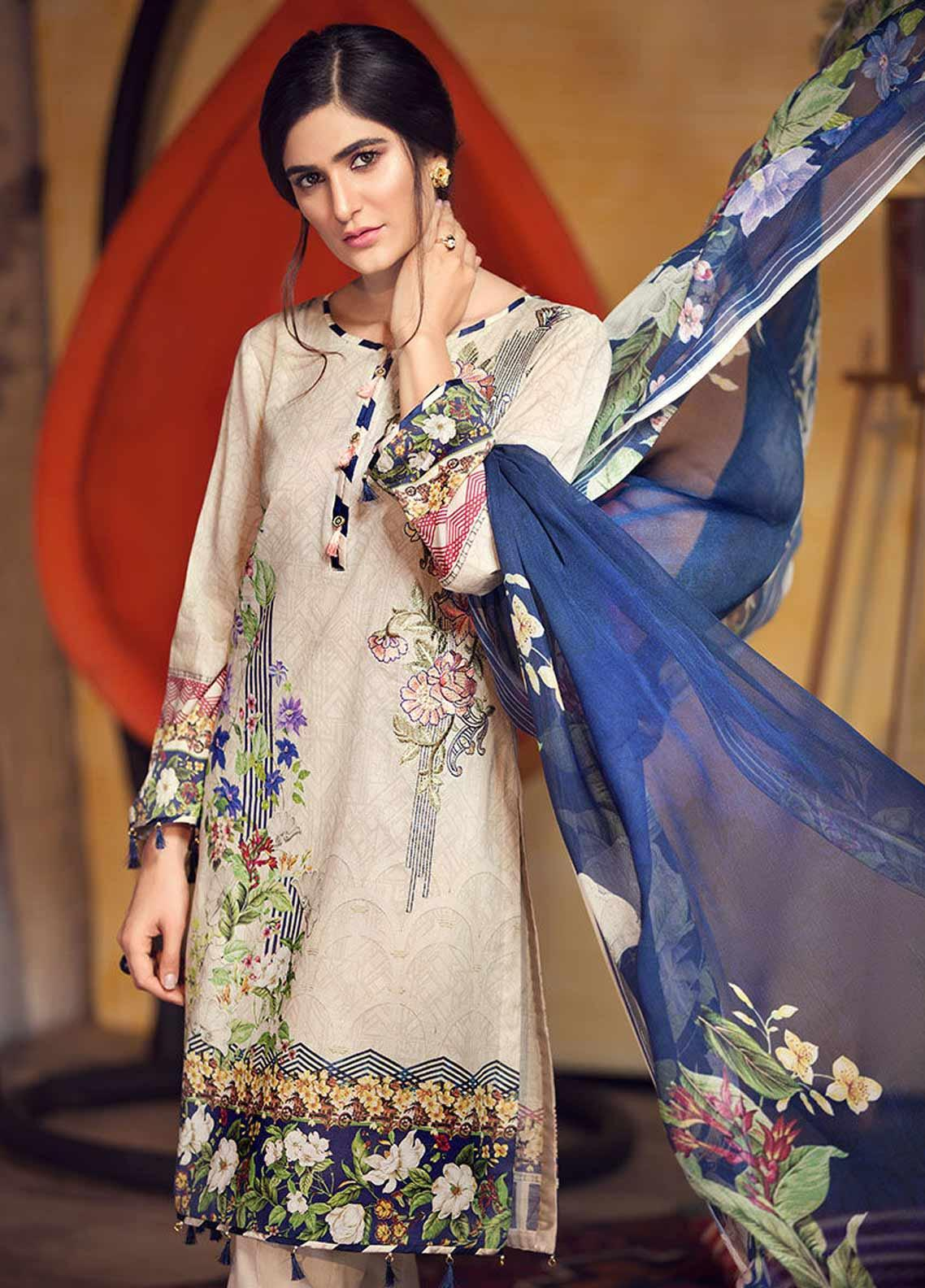 Arena by Mohagni Embroidered Lawn Unstitched 3 Piece Suit AMO19P 07 - Mid Summer Collection
