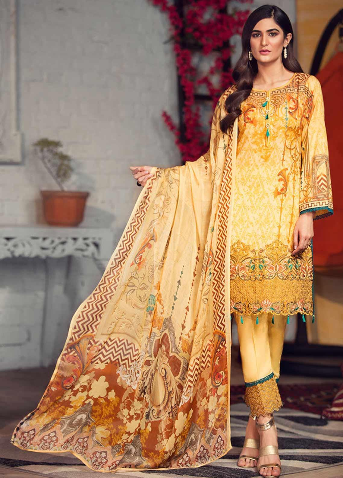 Arena by Mohagni Embroidered Lawn Unstitched 3 Piece Suit AMO19P 10 - Mid Summer Collection