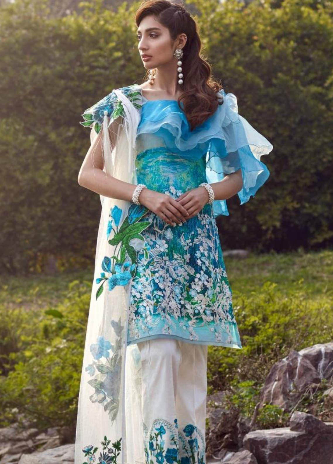Asifa & Nabeel Embroidered Lawn Unstitched 3 Piece Suit AN20L Floressence Loft 31-D - Spring / Summer Collection
