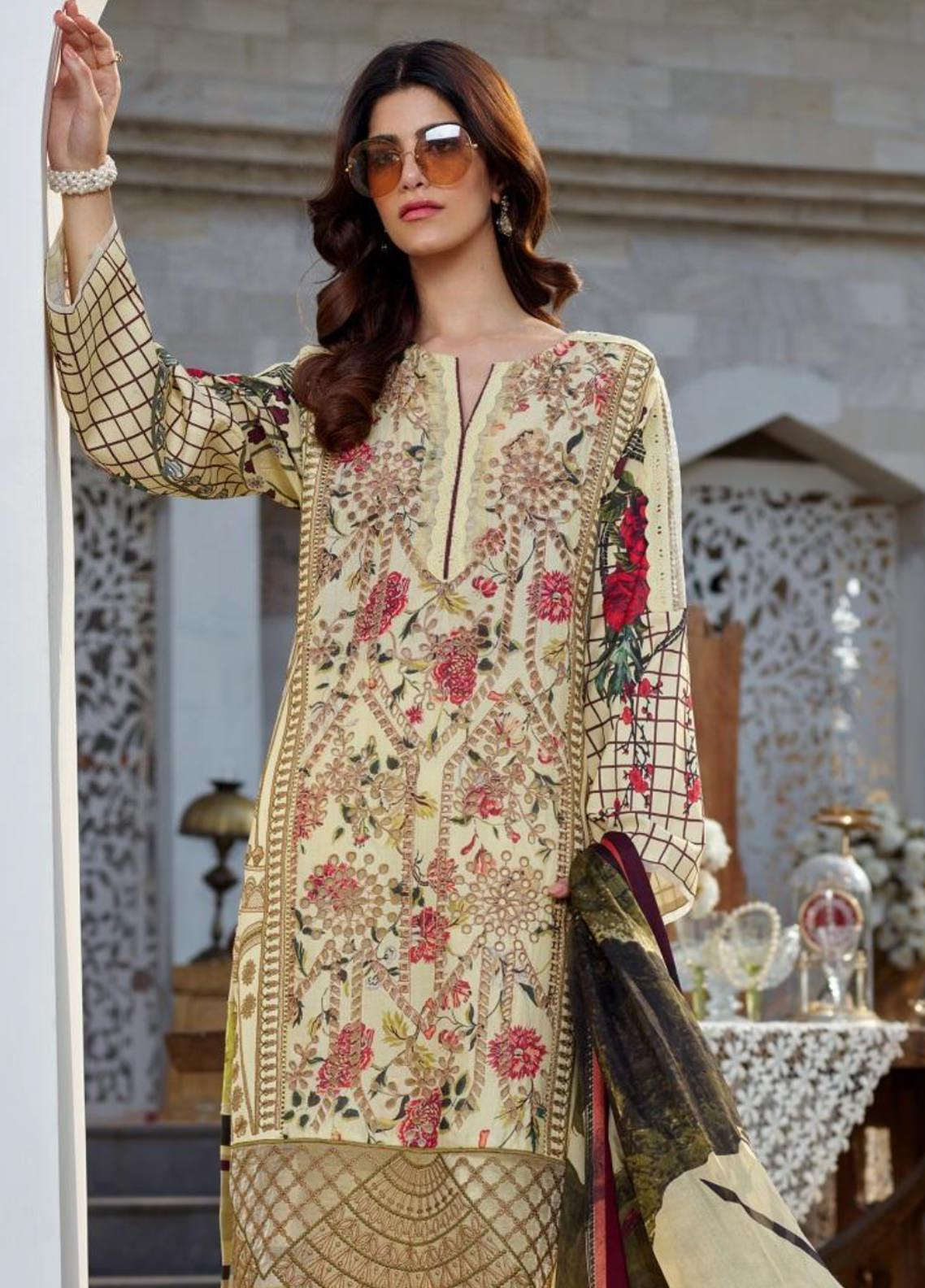 Asifa & Nabeel Embroidered Lawn Unstitched 3 Piece Suit AN20L Svasa Glint 33-S - Spring / Summer Collection