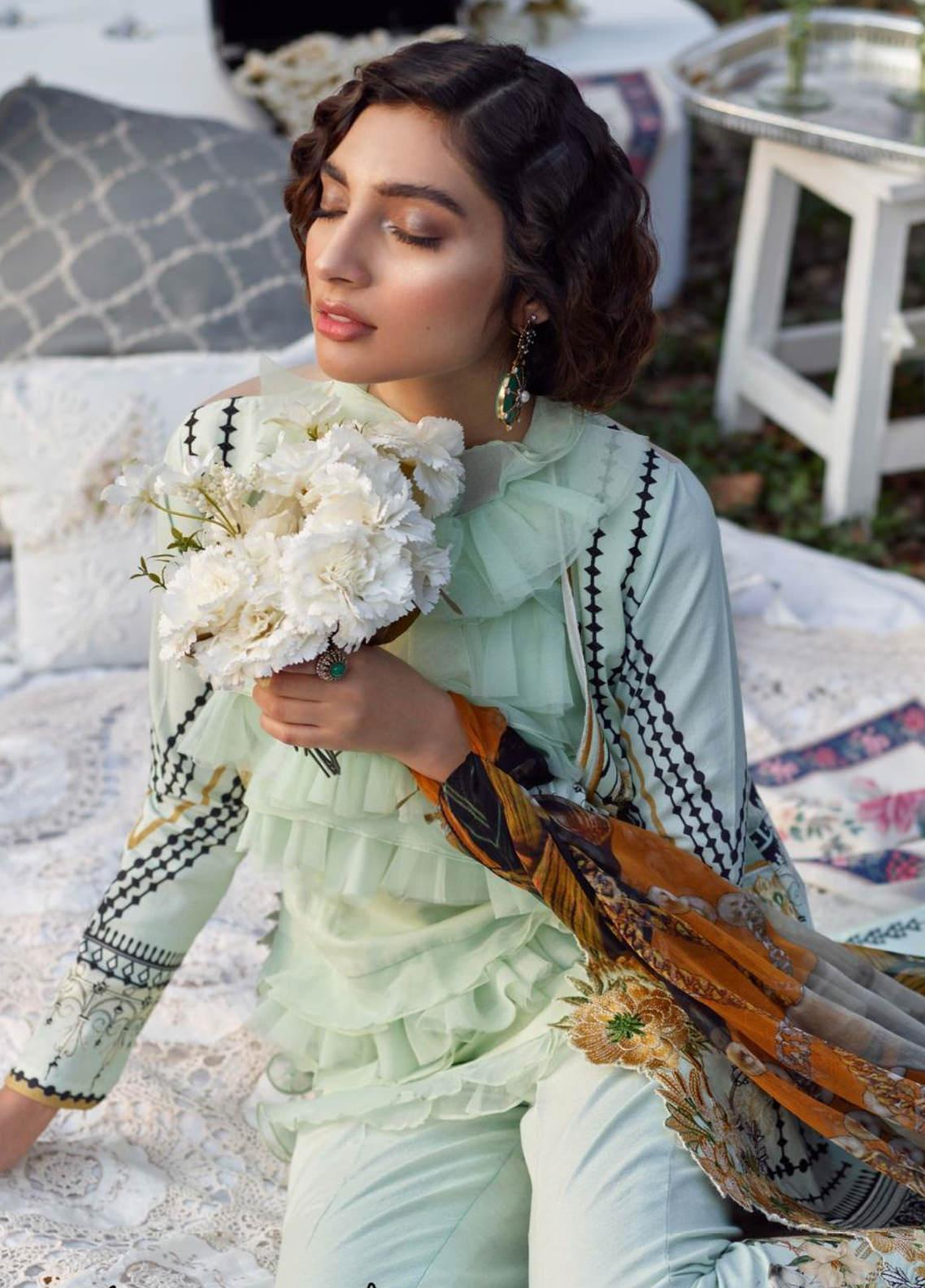 Asifa & Nabeel Embroidered Lawn Unstitched 3 Piece Suit AN20L Urban Bloom 13-D - Spring / Summer Collection