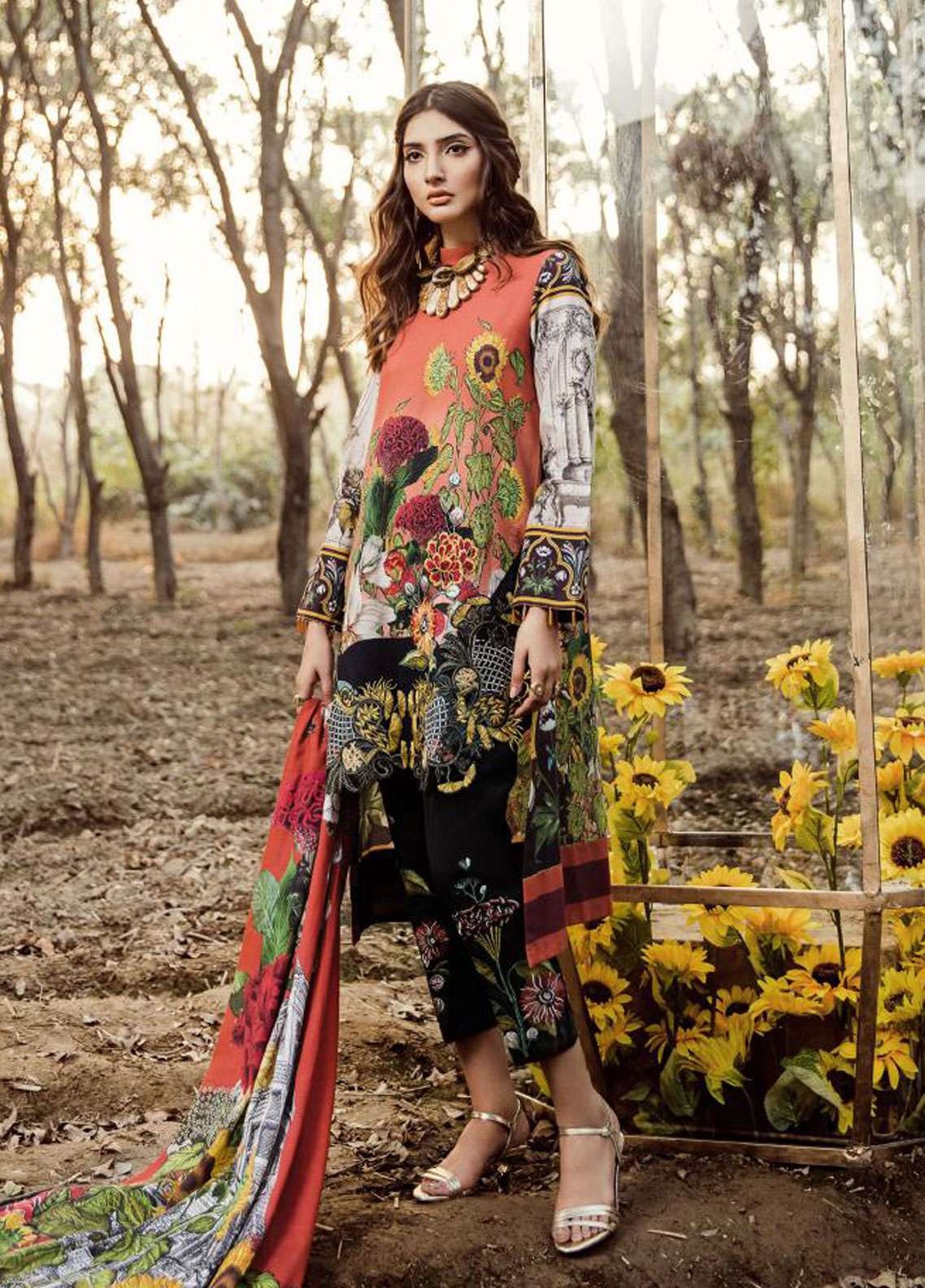 Asifa & Nabeel Embroidered Khaddar Unstitched 3 Piece Suit AN18W 89H Rustive Eves - Winter Collection