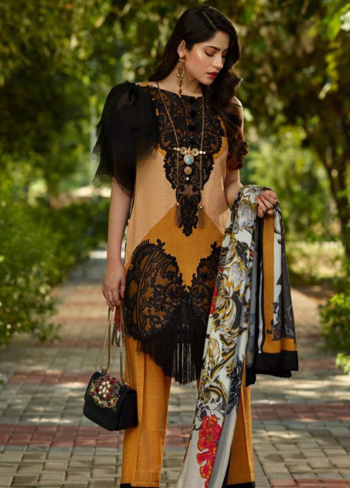 Asifa & Nabeel Embroidered Khaddar Unstitched 3 Piece Suit AN19W 7B CHANDNI - Winter Collection