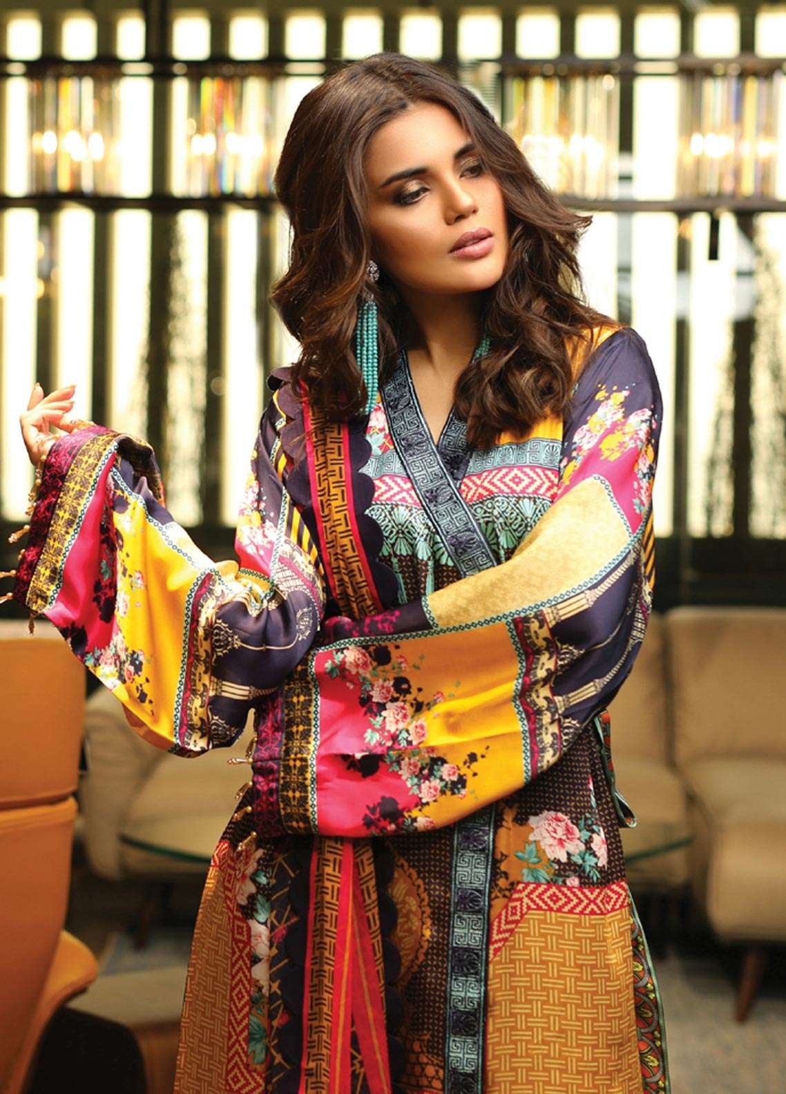 Asim Jofa Embroidered Charmeuse Unstitched 3 Piece Suit AJ18S 05 - Winter Luxury Collection