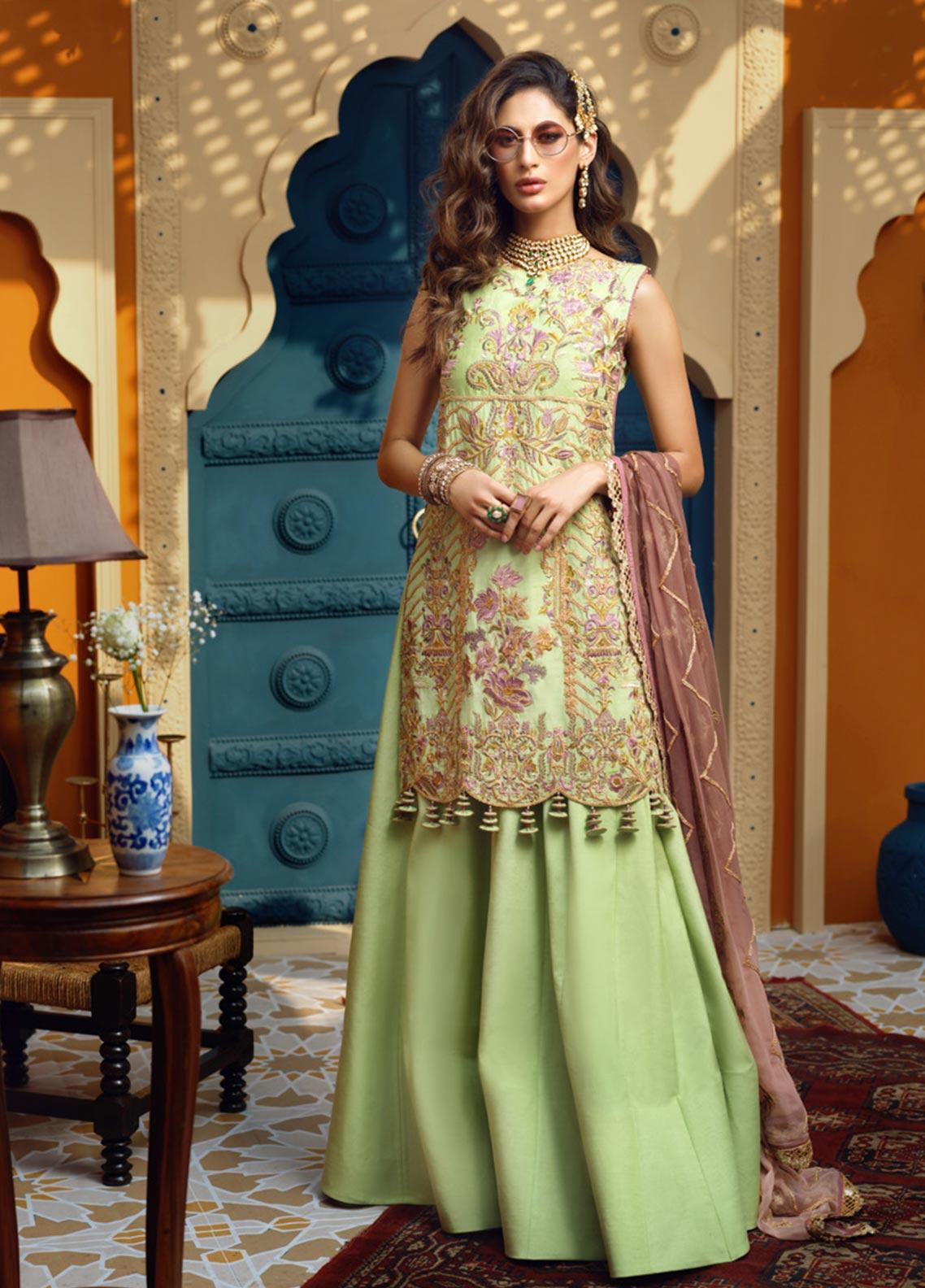 Asim Jofa Embroidered Raw Silk Unstitched 3 Piece Suit AJ19C 05 - Wedding Collection