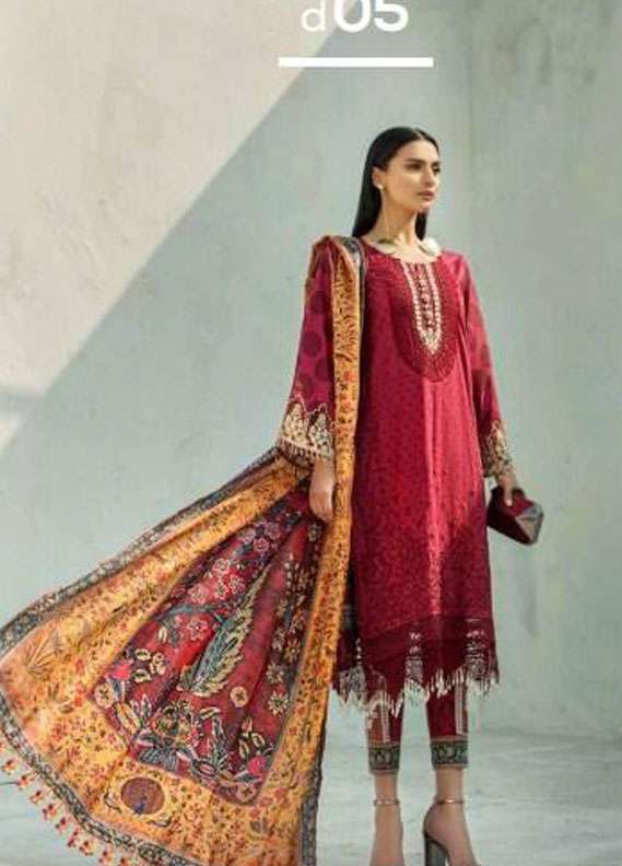 9b611abfd8 AUJ Embroidered Lawn Unstitched 3 Piece Suit AUJ18L 05 - Spring / Summer  Collection
