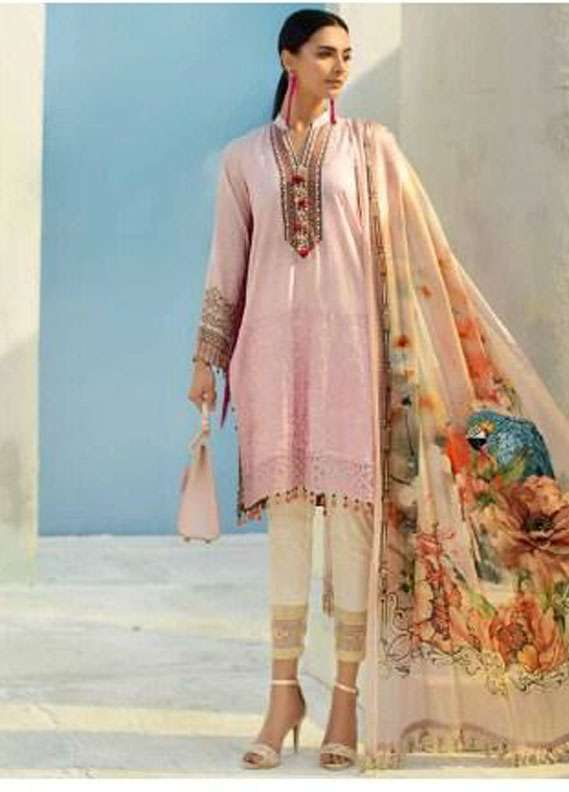 AUJ Embroidered Lawn Unstitched 3 Piece Suit AUJ18L 10 - Spring / Summer Collection