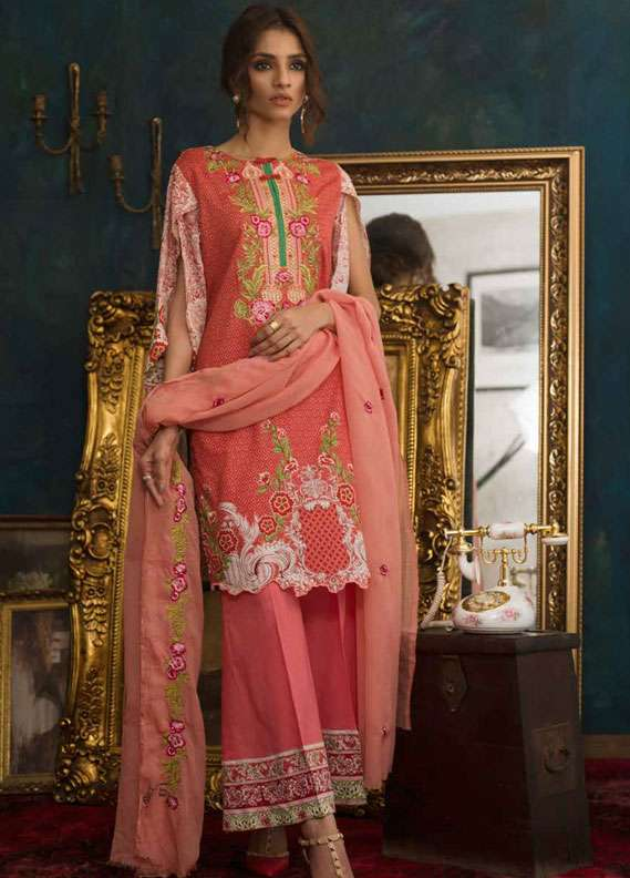 Ayesha Chottani Embroidered Lawn Unstitched 3 Piece Suit AYC18L ST-4A - Spring / Summer Collection