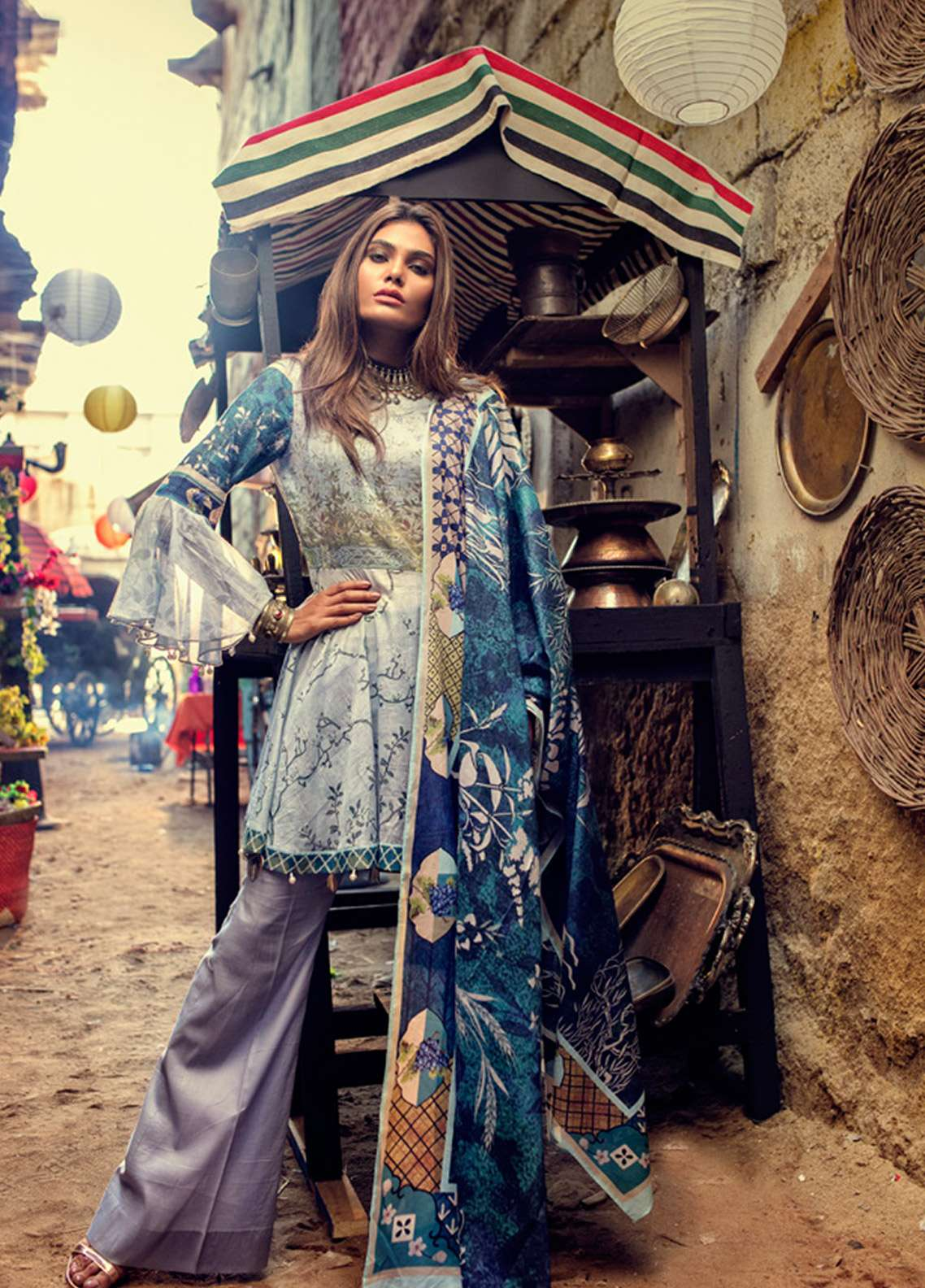 Azalea Printed Lawn Unstitched 3 Piece Suit AZA18SL 07 - Mid Summer Collection