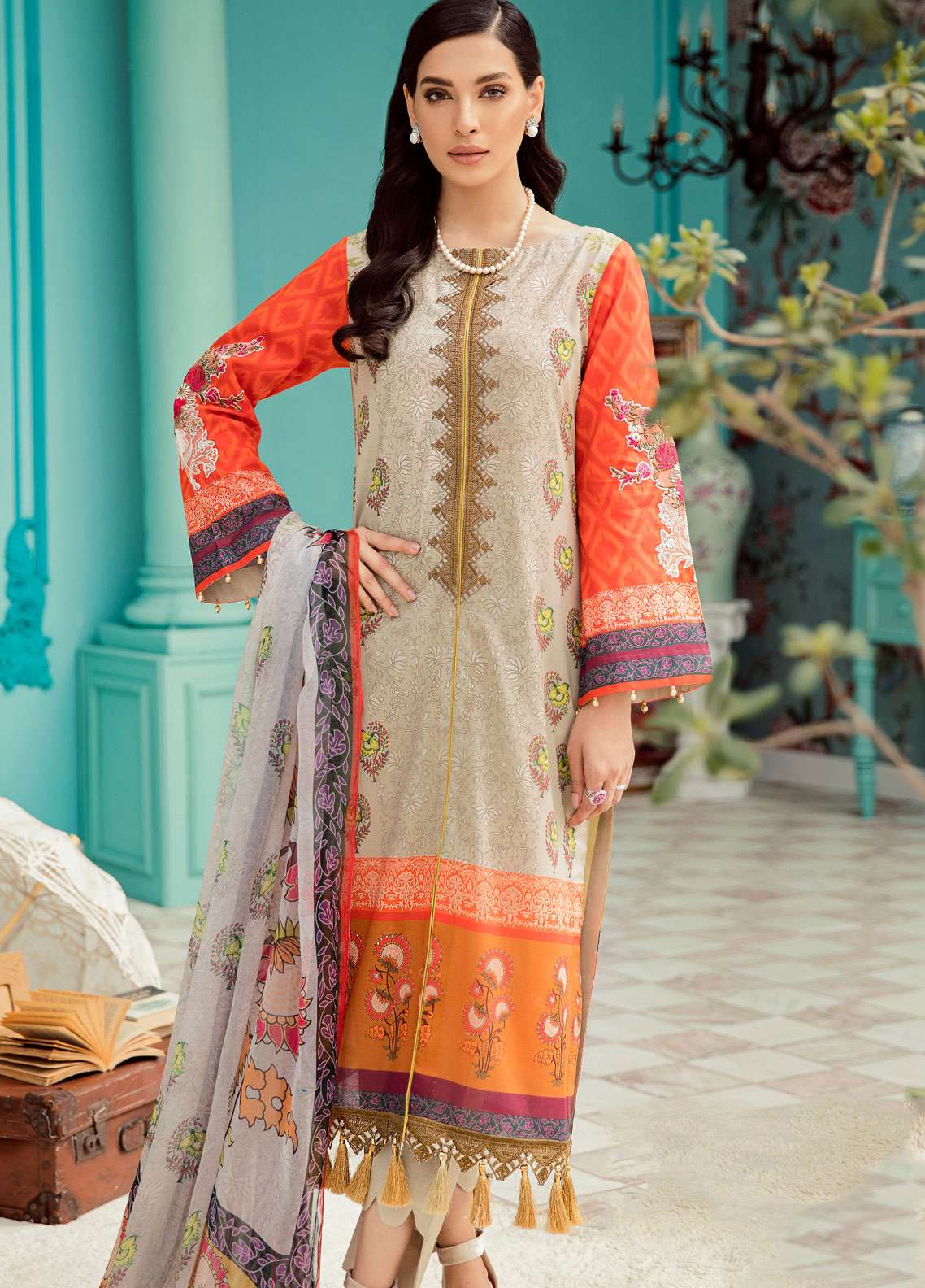 Azalea Embroidered Lawn Unstitched 3 Piece Suit AZA19EL 04 - Spring / Summer Collection