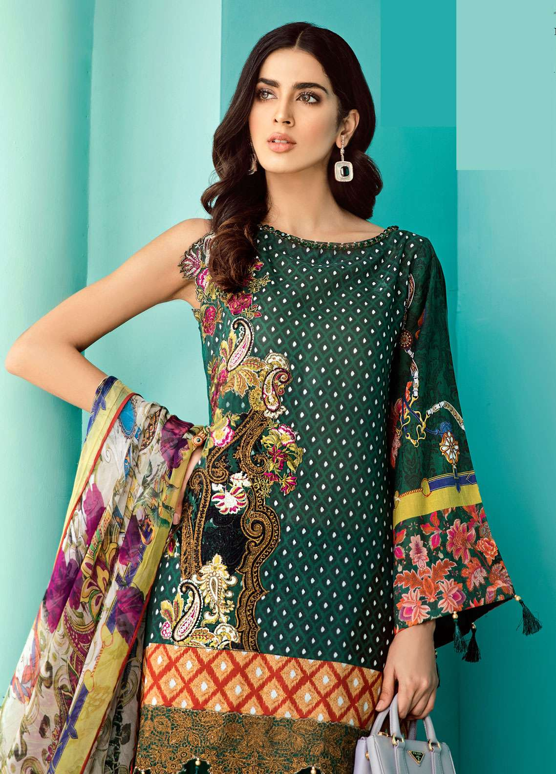 Azalea Embroidered Lawn Unstitched 3 Piece Suit AZA19EL 05 - Spring / Summer Collection