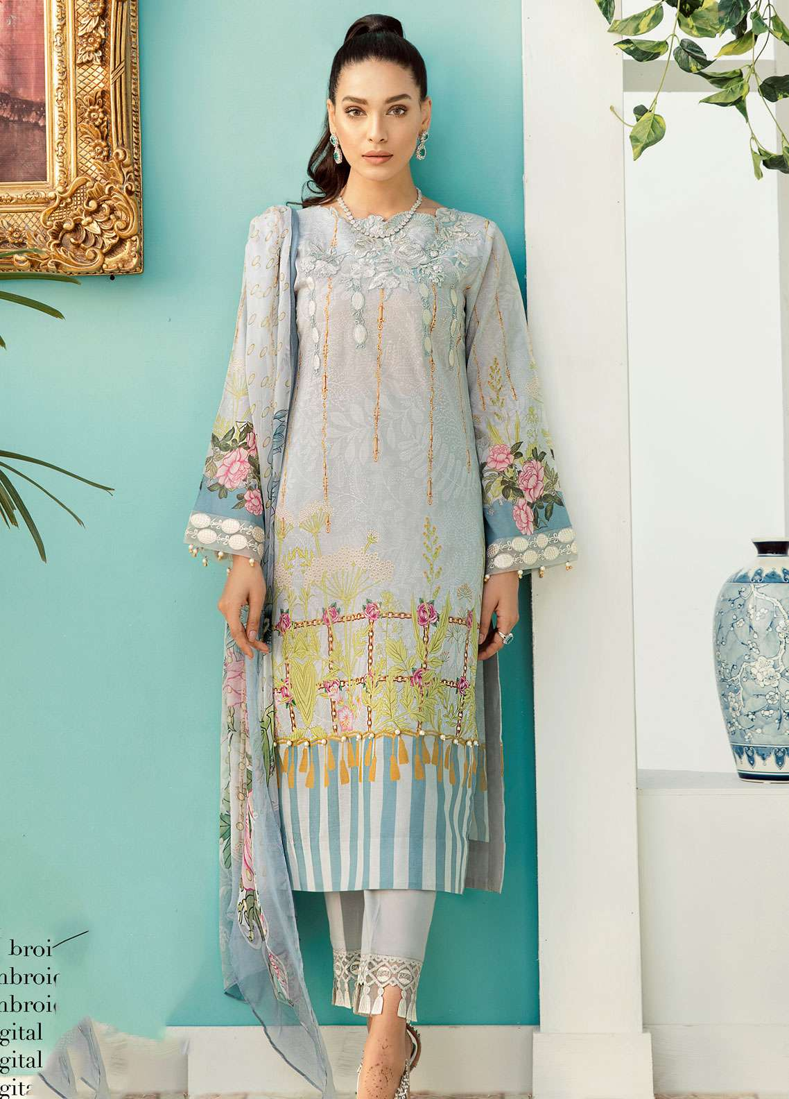 Azalea Embroidered Lawn Unstitched 3 Piece Suit AZA19EL 06 - Spring / Summer Collection