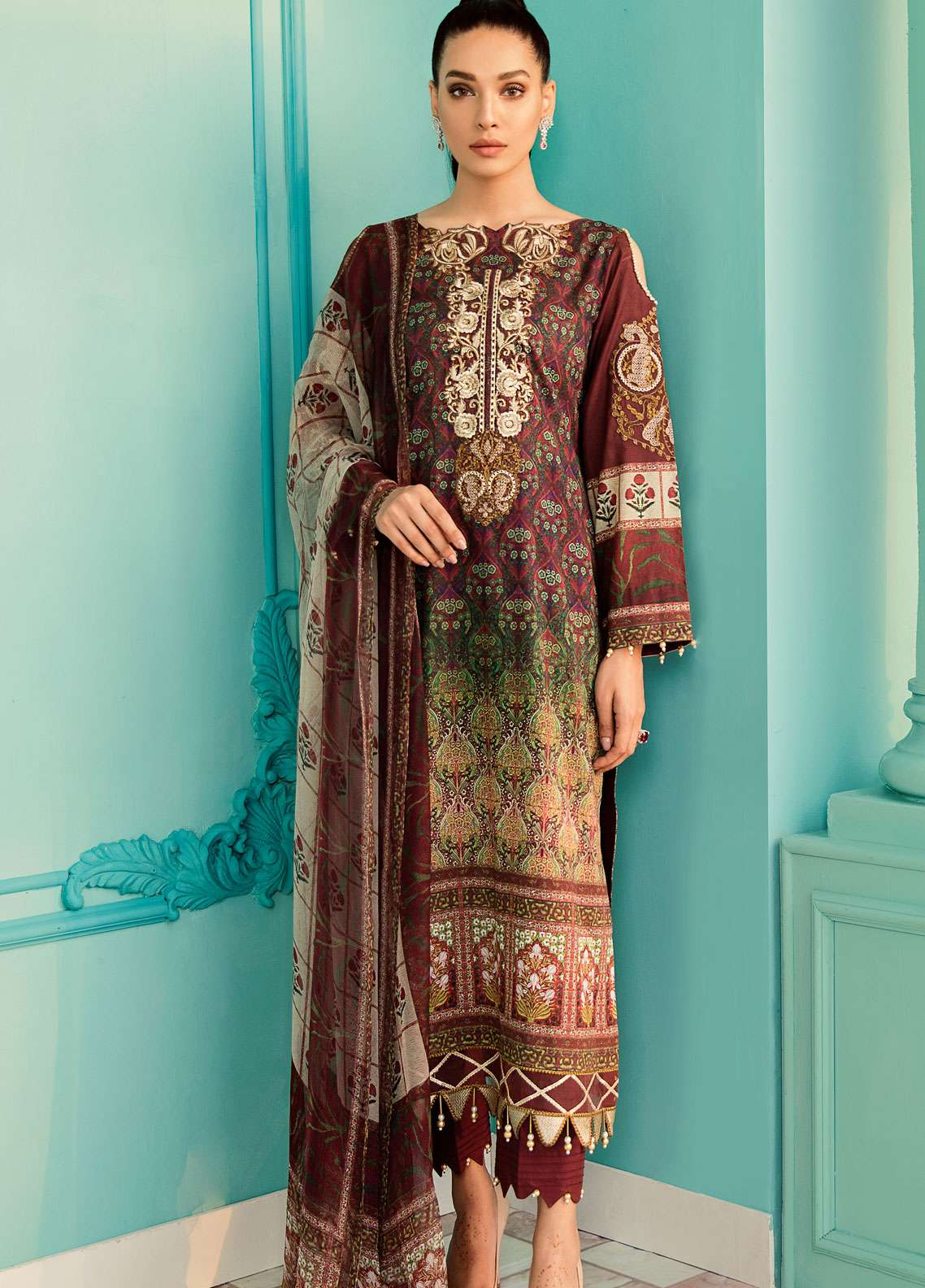 Azalea Embroidered Lawn Unstitched 3 Piece Suit AZA19EL 08 - Spring / Summer Collection